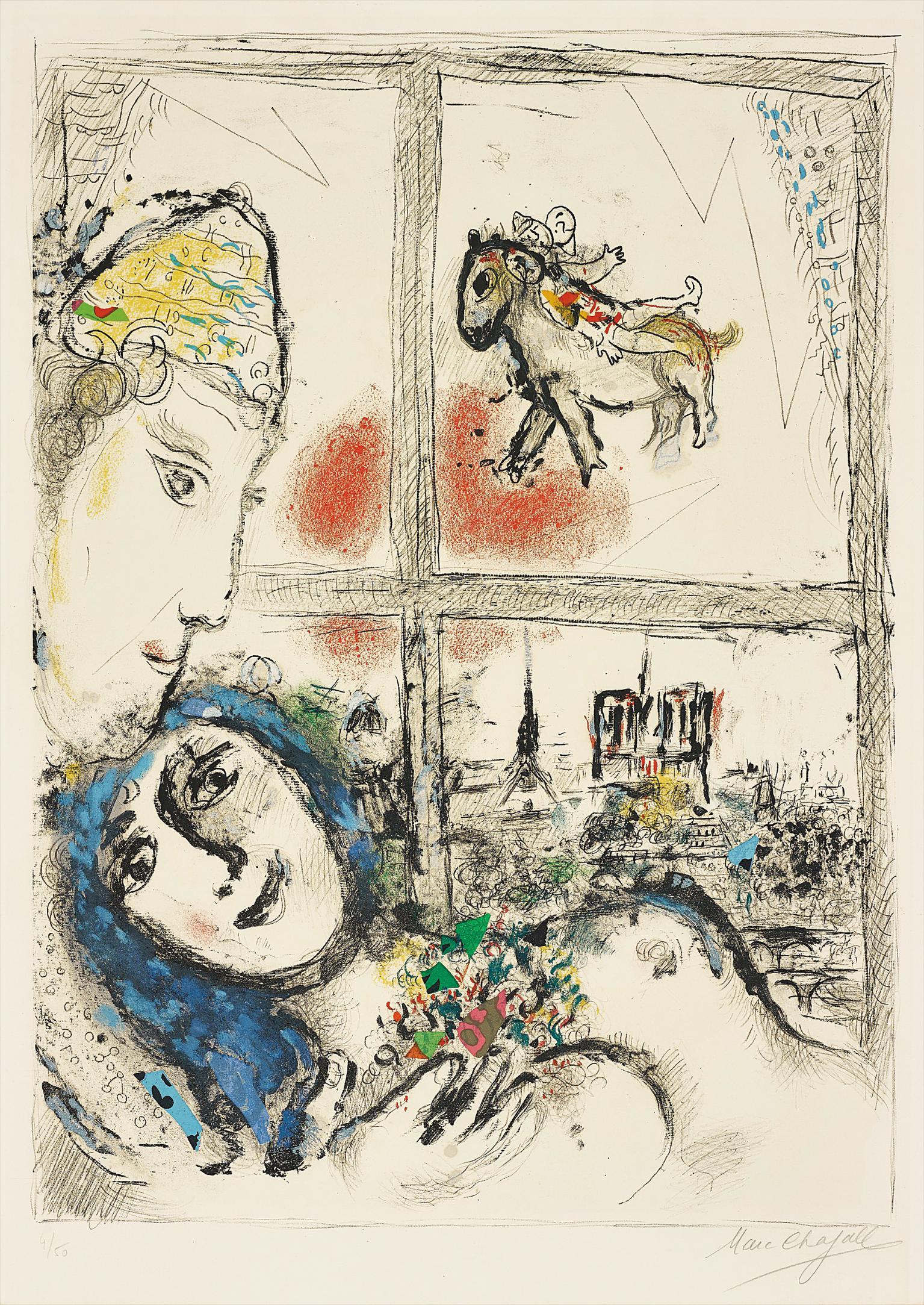 Marc Chagall-Paris De La Fenetre (Paris Through The Window)-1970