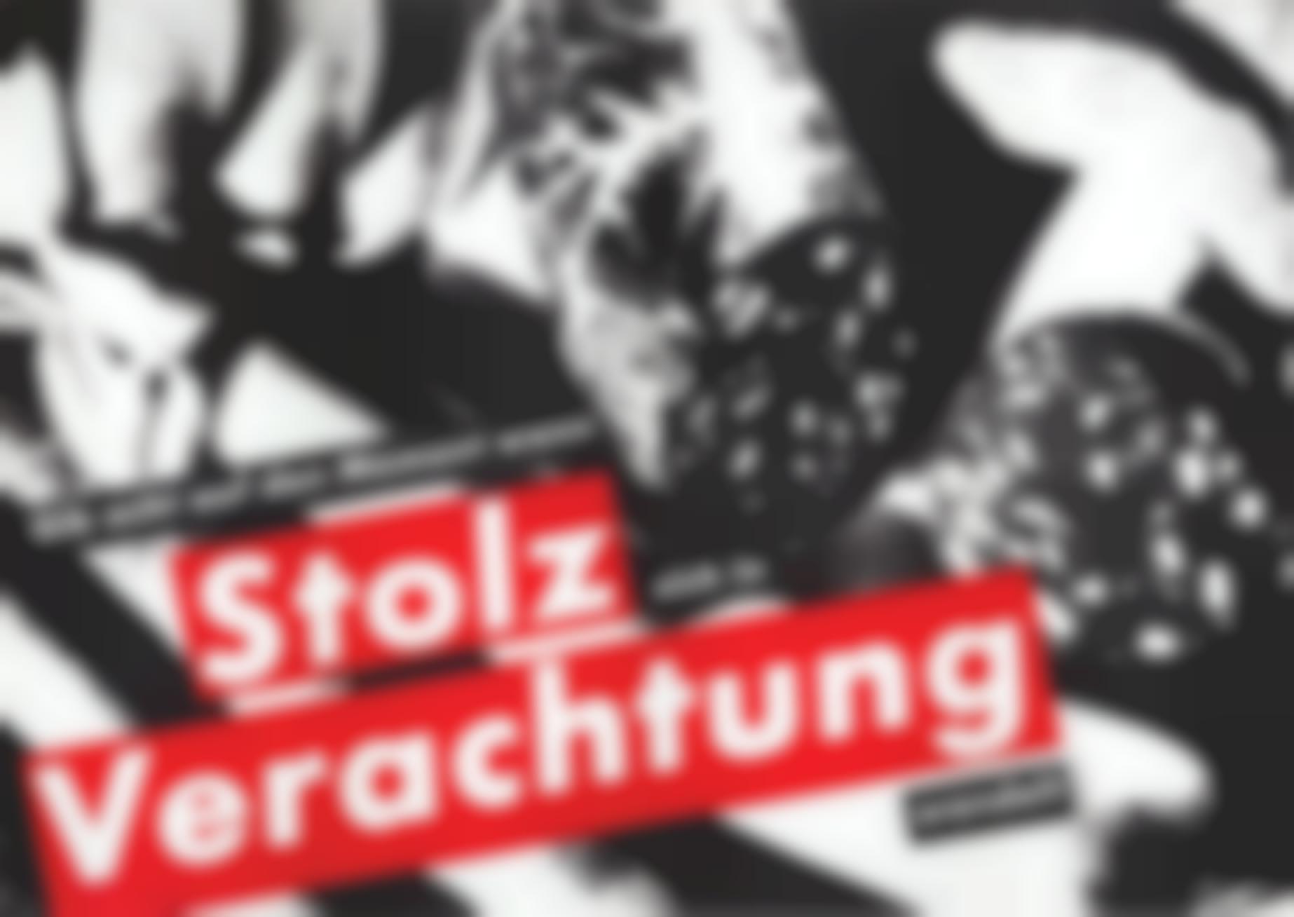 Barbara Kruger-Gib Acht Auf Den Moment Wenn Stolz Sich In Verachtung Wandelt (Watch The Moment When Pride Changes To Contempt)-1990