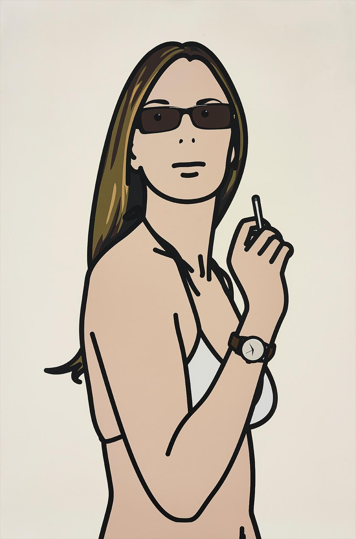 Julian Opie-Ruth Smoking 3-2006