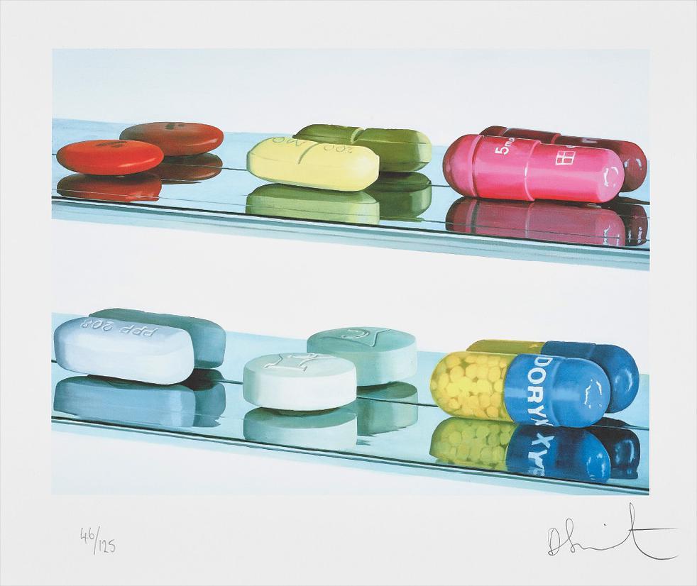 Damien Hirst-Six Pills-2004