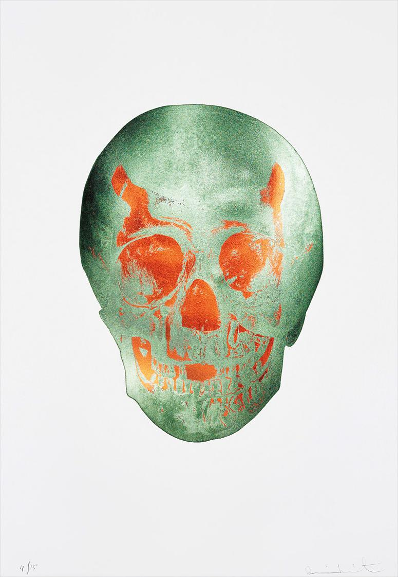 Damien Hirst-The Dead (Racing Green/ Chilli Red Skull)-2009