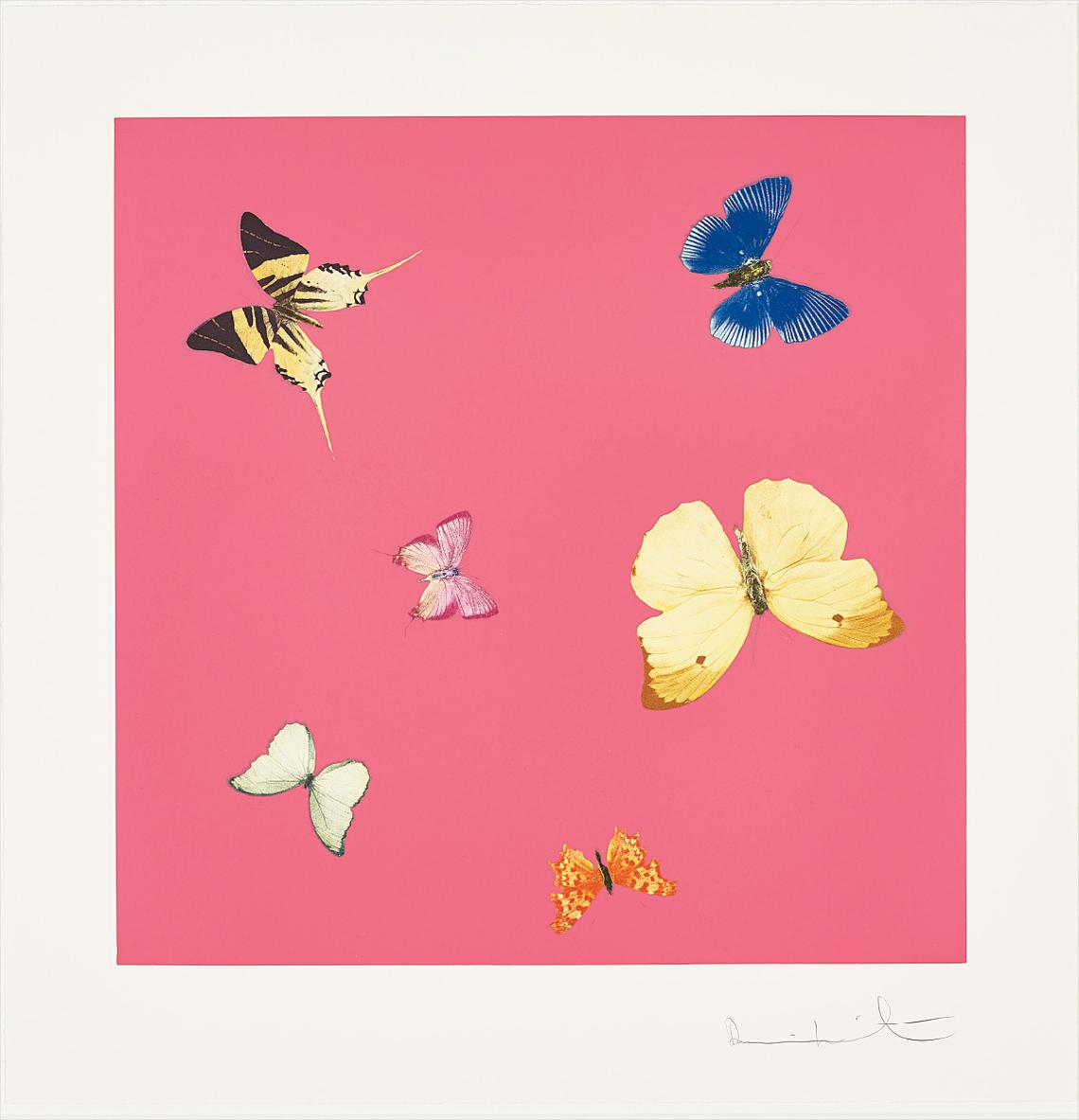 Damien Hirst-Lullaby, From Love Poems-2014