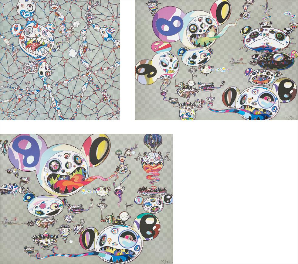 Takashi Murakami-We Are Destined To Meet Someday! But For Now, We Wander In Different Dimensions; We Are Destined To Meet Someday! But For Now, We Wander In Different Dimensions; And Hands Clasped-2016