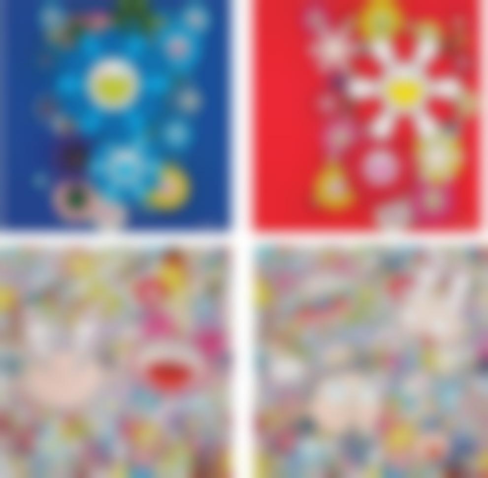 Takashi Murakami-Blue Velvet; Rose Velvet; Kaikai & Kiki: Dreaming Of Shangri-La; And The Creative Mind-2016