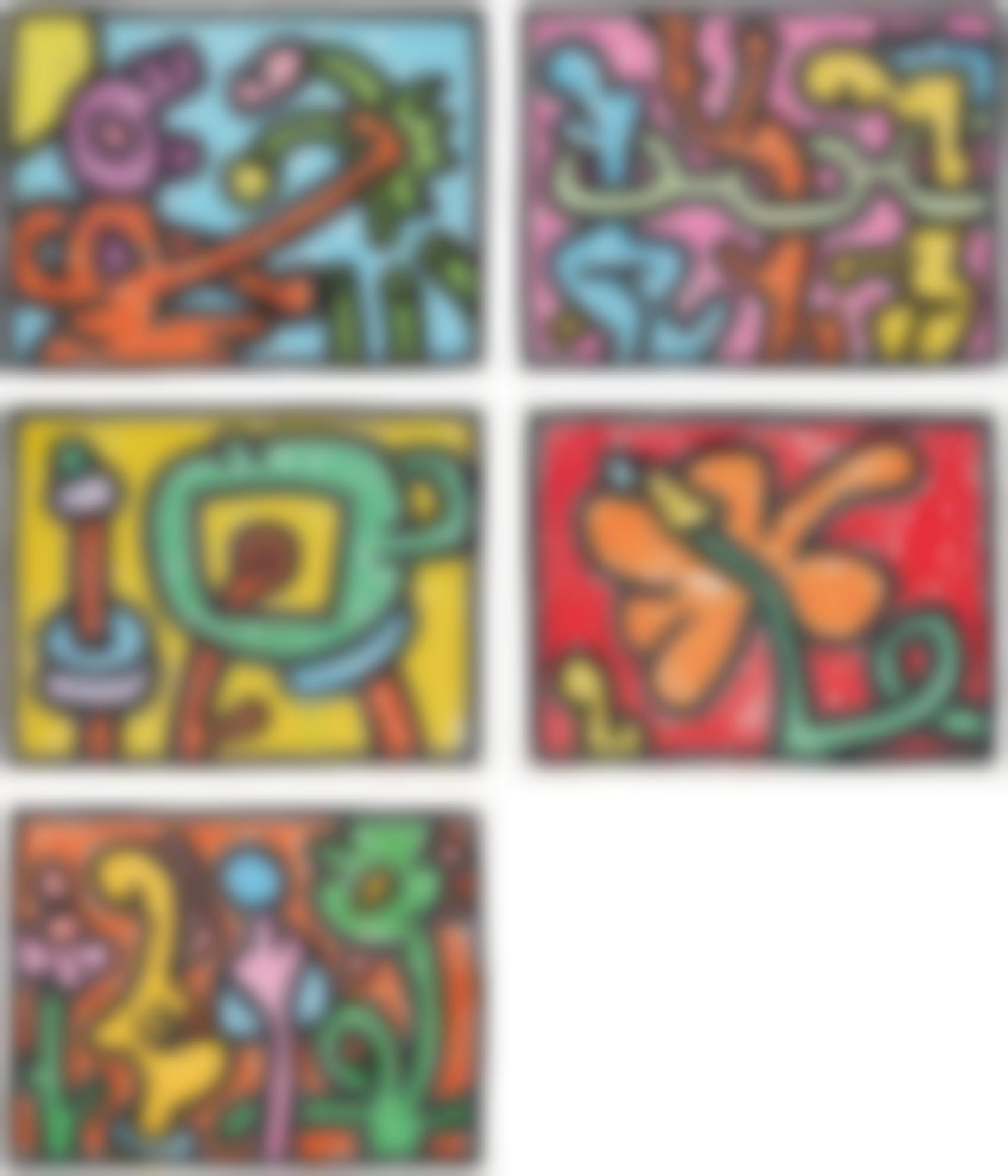 Keith Haring-Flowers-1990