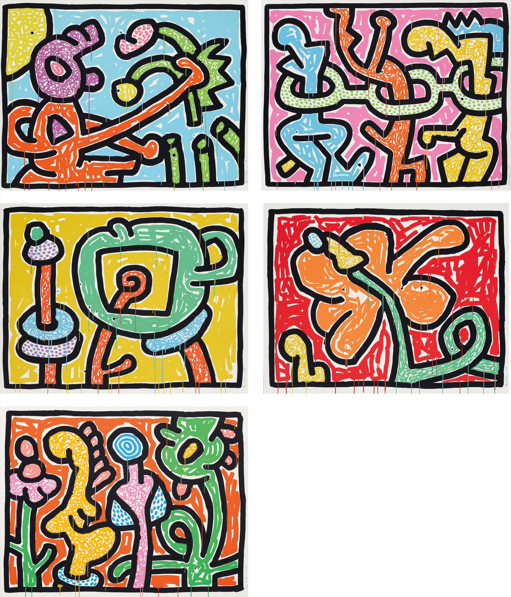 Keith Haring-Flowers-1990