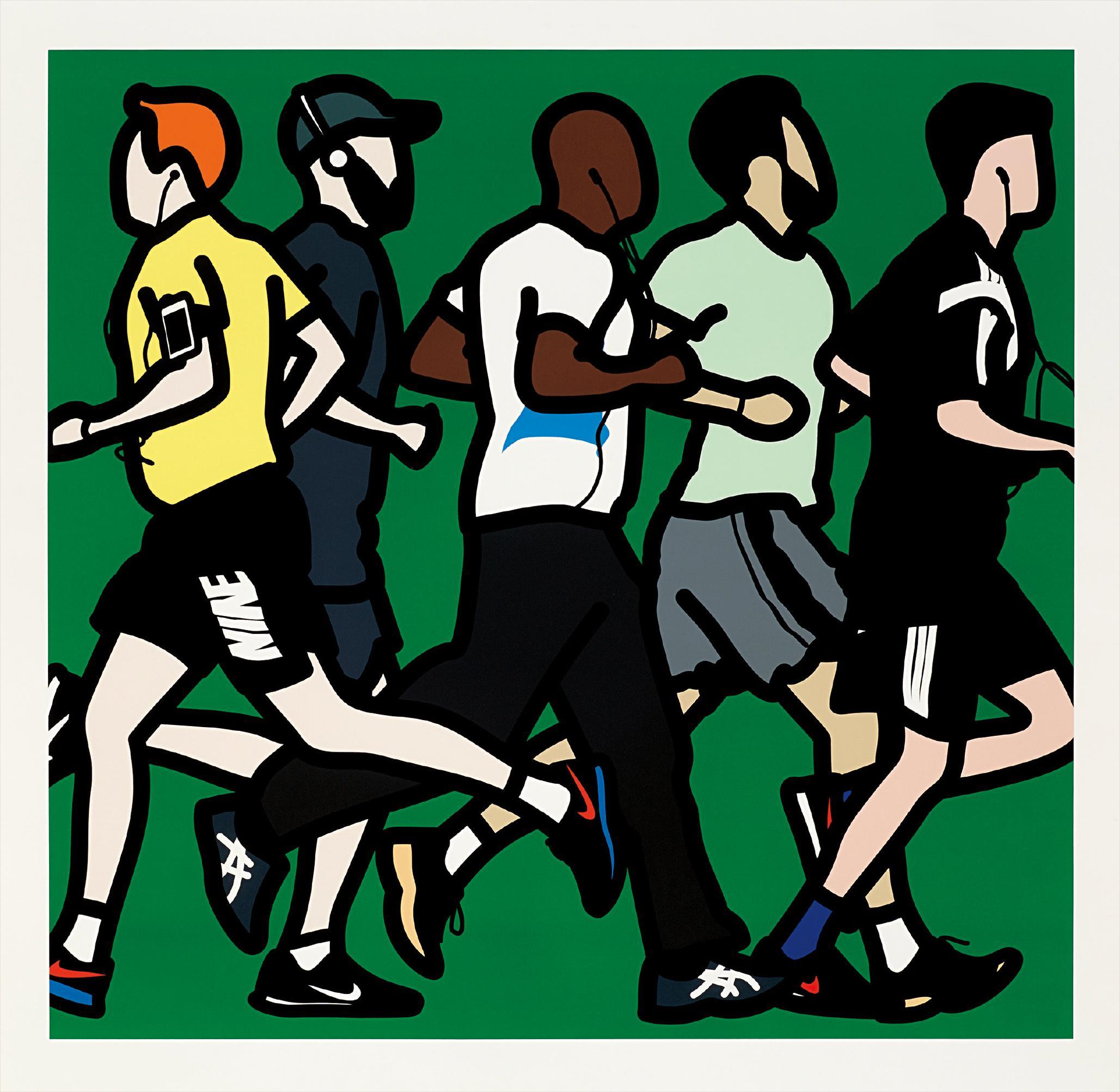 Julian Opie-Running Men, From Runners-2016