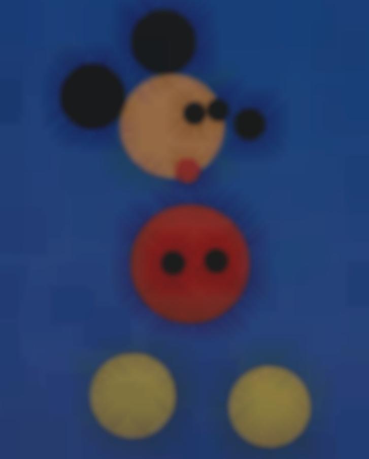 Damien Hirst-Mickey (Blue Glitter)-2016