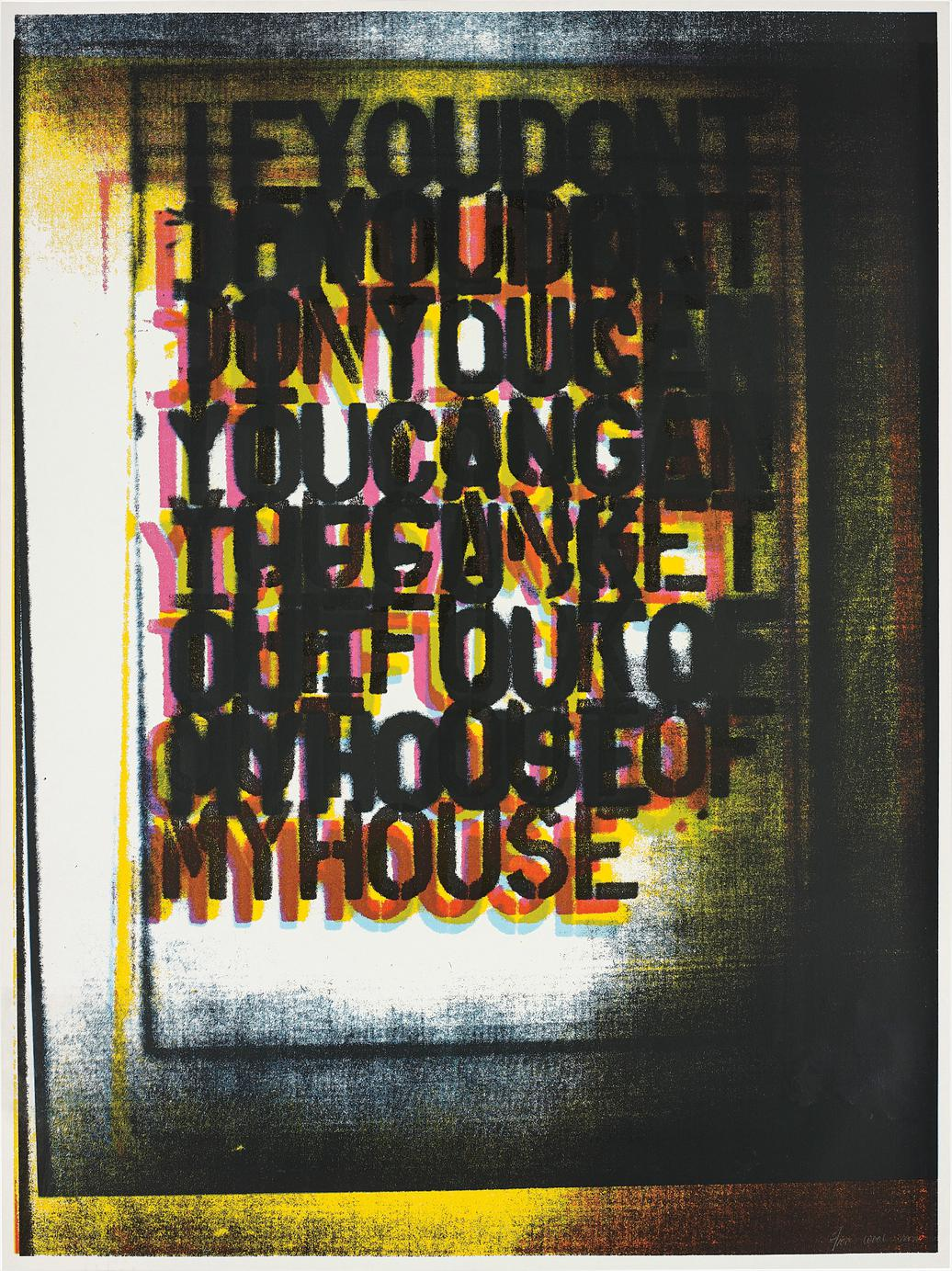 Christopher Wool-My House I-2000