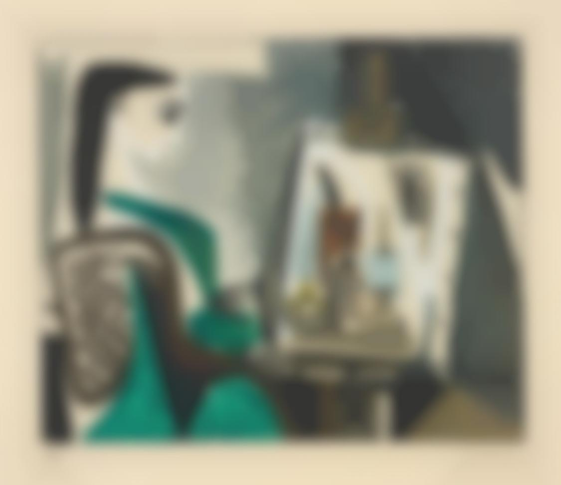 Pablo Picasso-After Pablo Picasso - Jacqueline A Latelier (Jacqueline At The Easel)-1956
