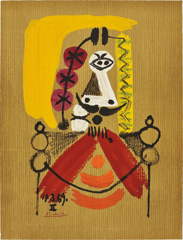 Pablo Picasso-After Pablo Picasso - Portrait Imaginaire (Imaginary Portraits): One Plate-1969