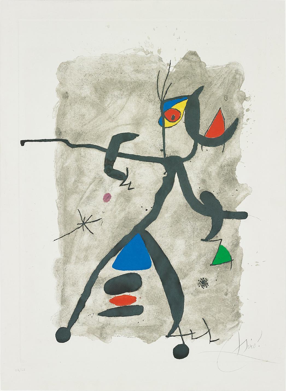 Joan Miro-Per Alberti, Per La Spagna (For Alberti, For Spain): One Plate-1975