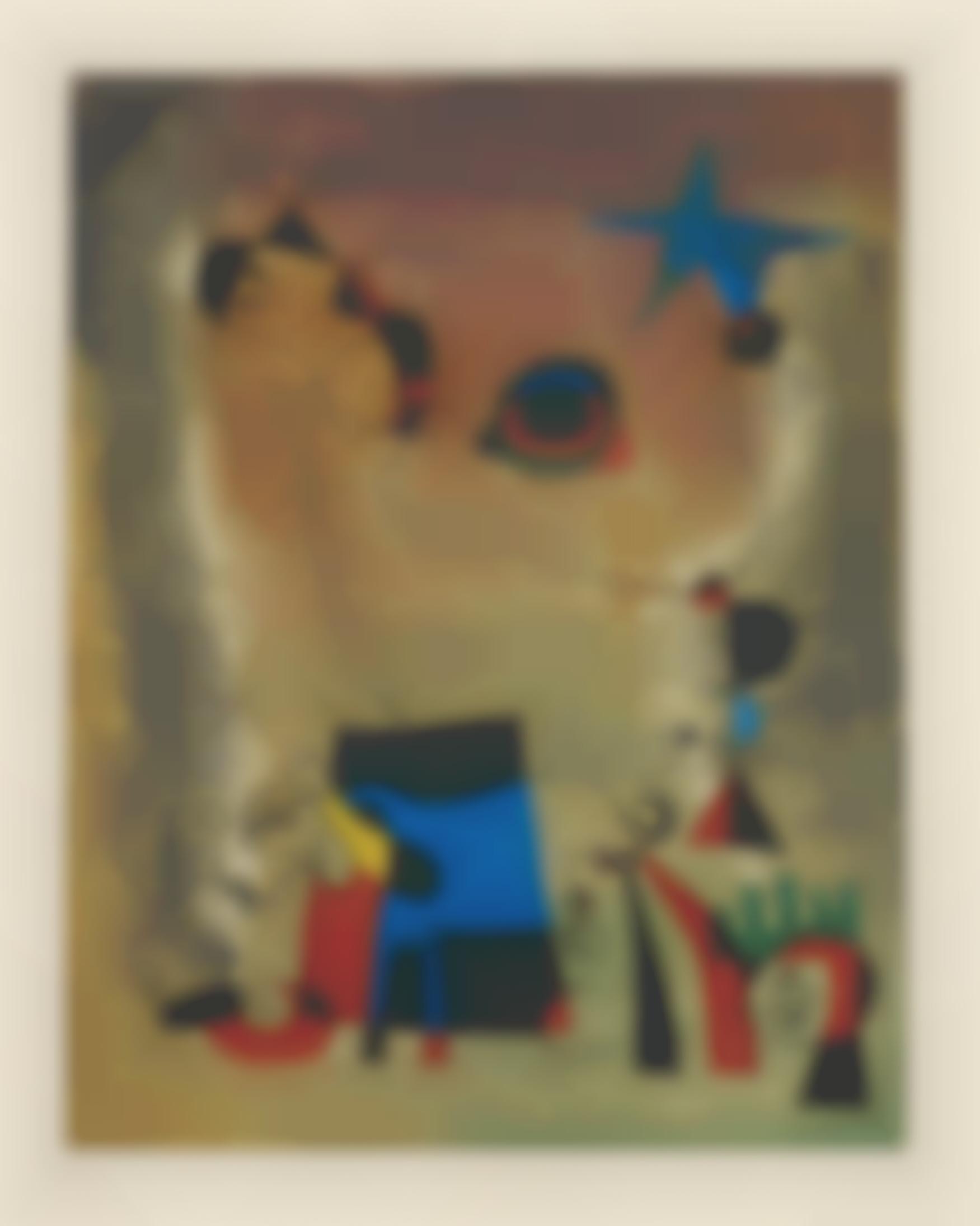 Joan Miro-After Joan Miro - Le Chien Bleu (The Blue Dog)-1959