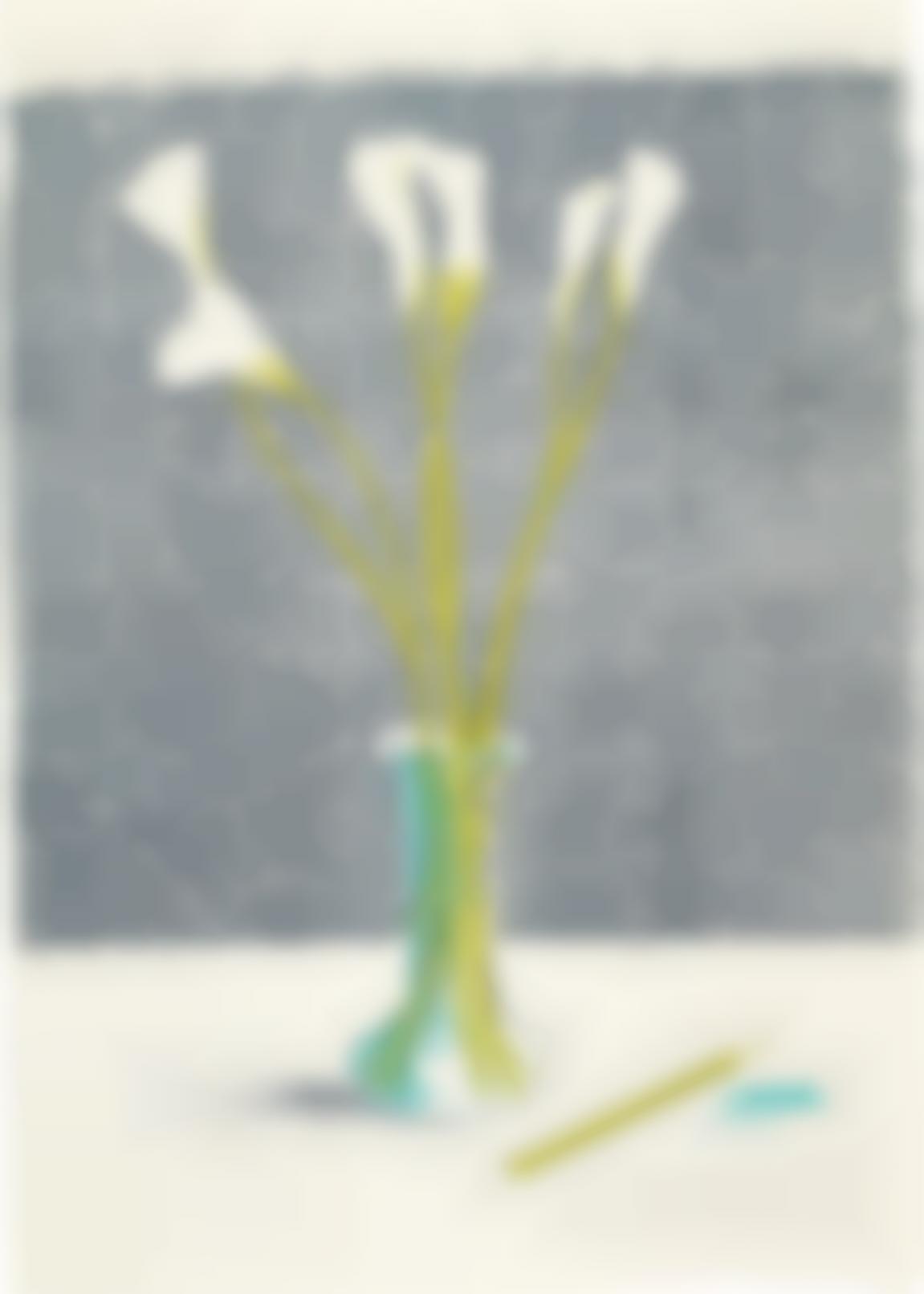 David Hockney-Lillies, From Europaische Graphik No VII-1971