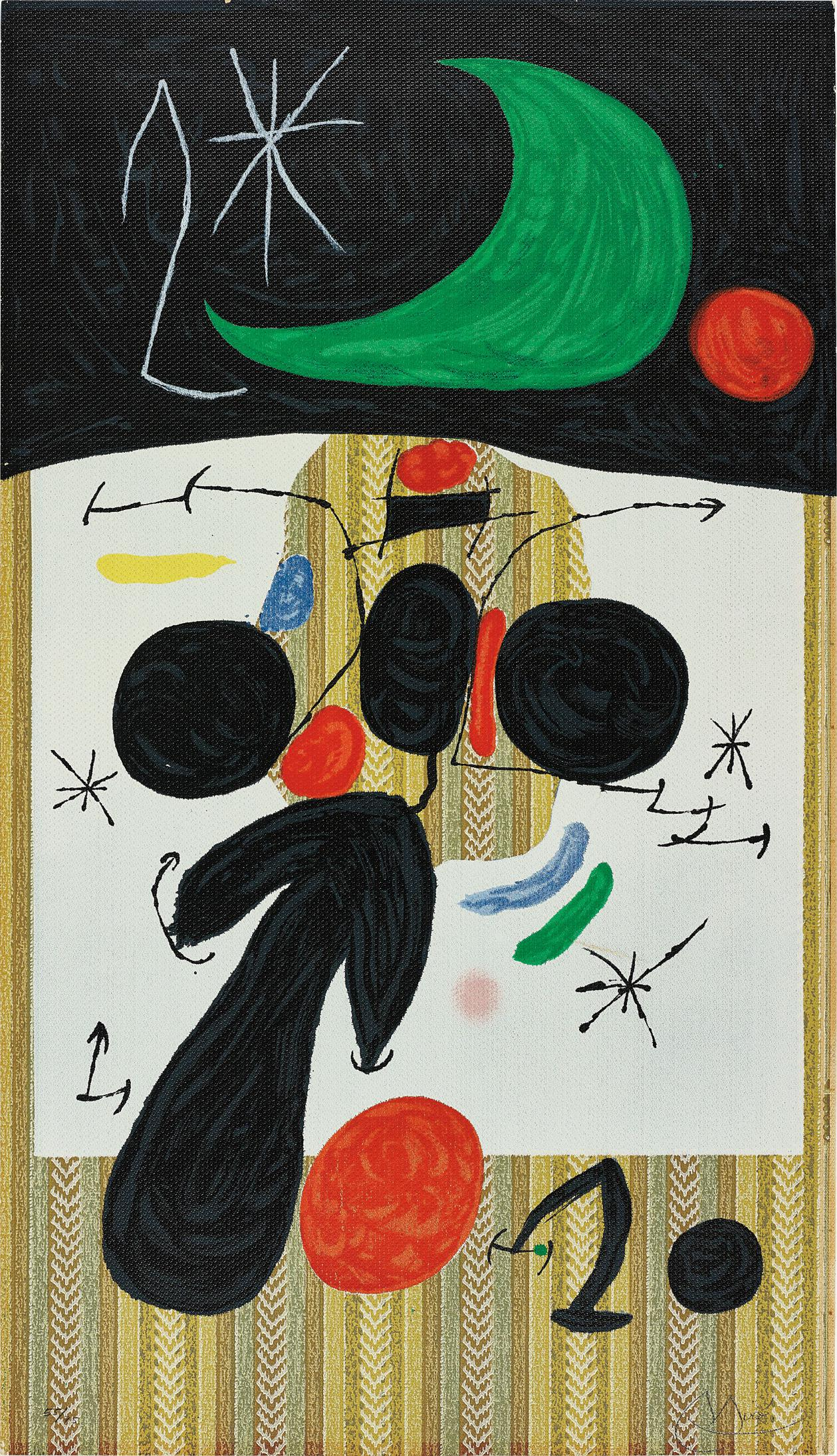 Joan Miro-Interieur Et Nuit (Interior And Night)-1969