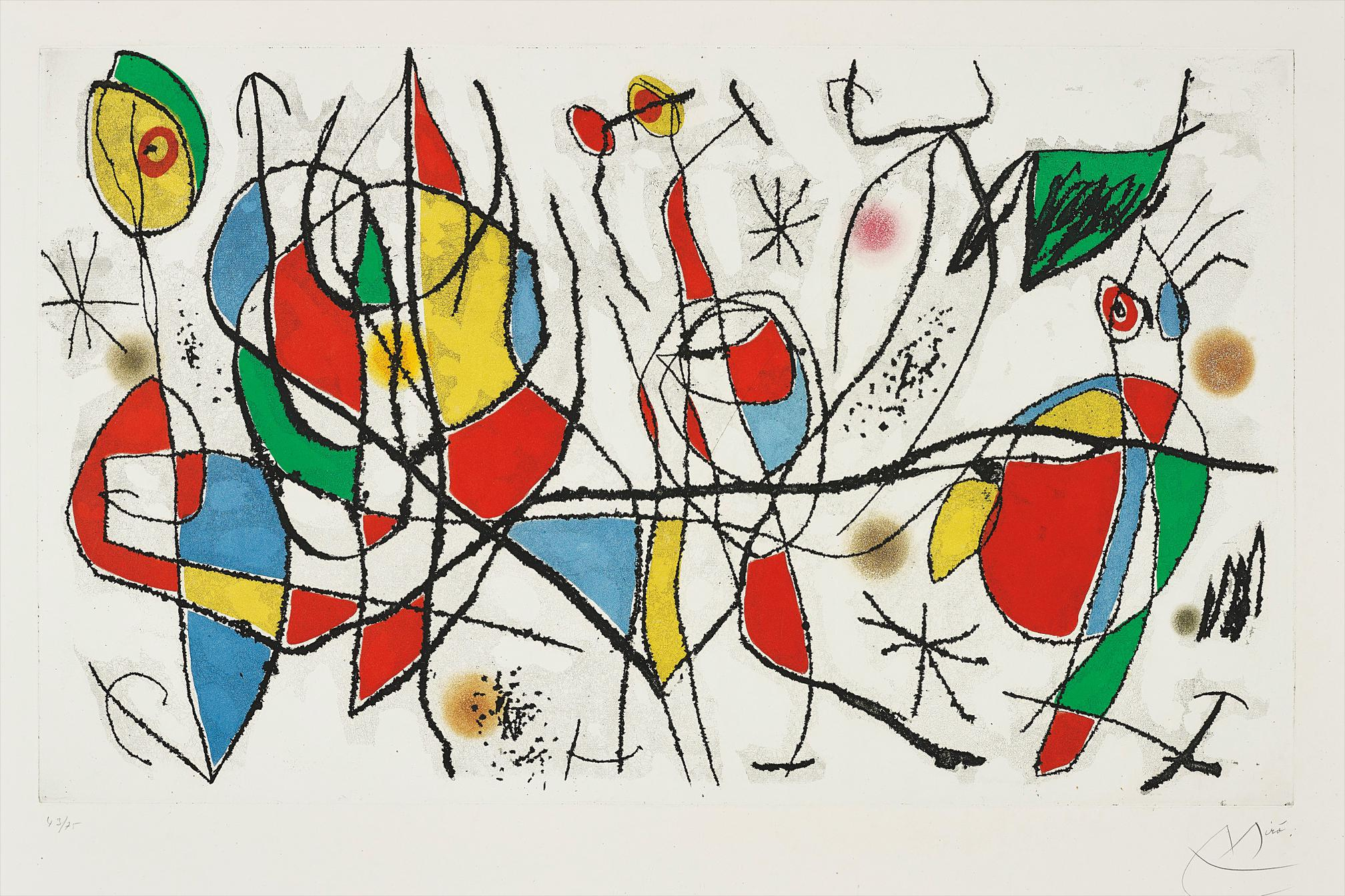 Joan Miro-Linvitee Du Dimanche I (Sunday Guest I)-1969
