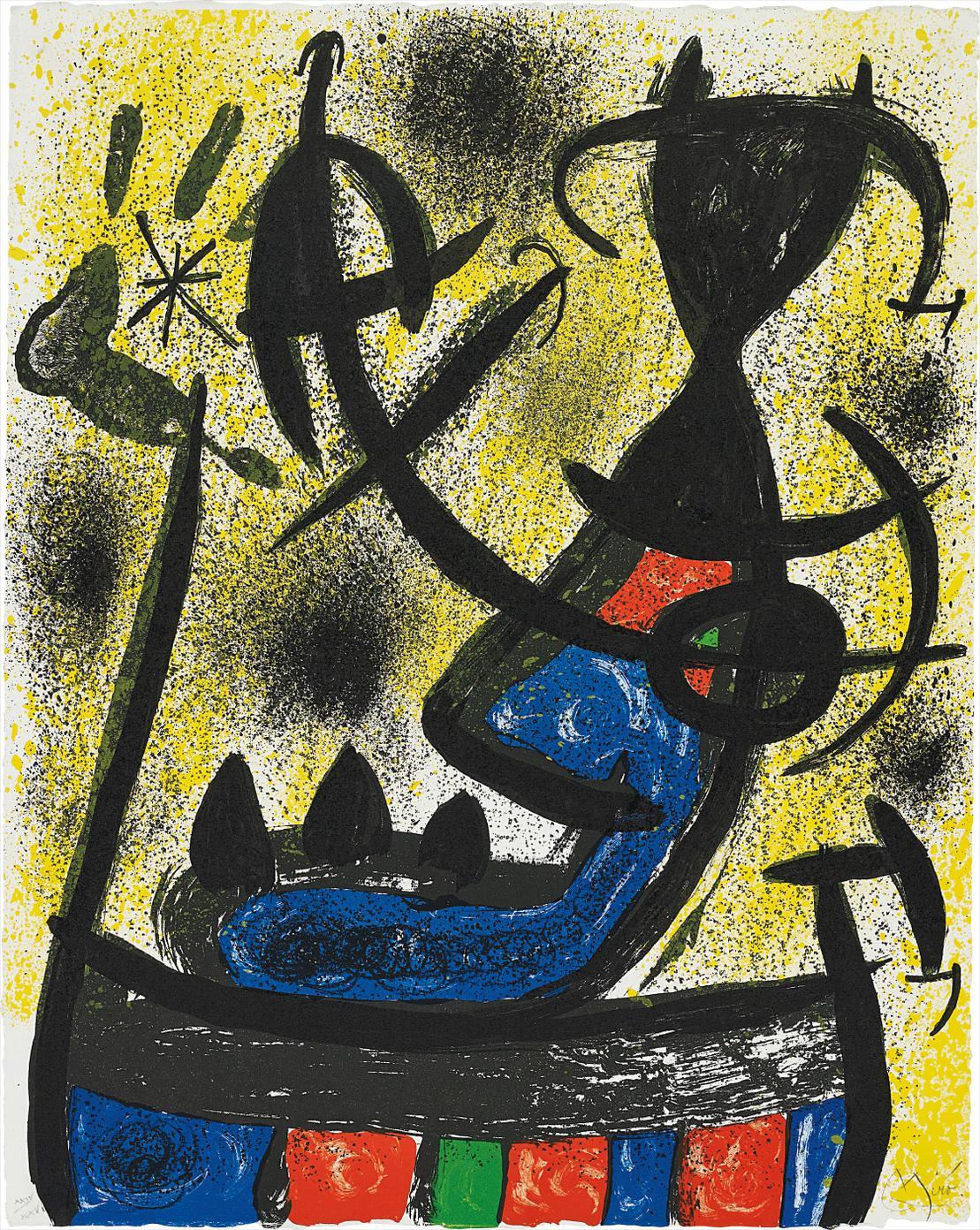 Joan Miro-Il Circulo De Piedra (The Circle Of Stone): One Plate-1971