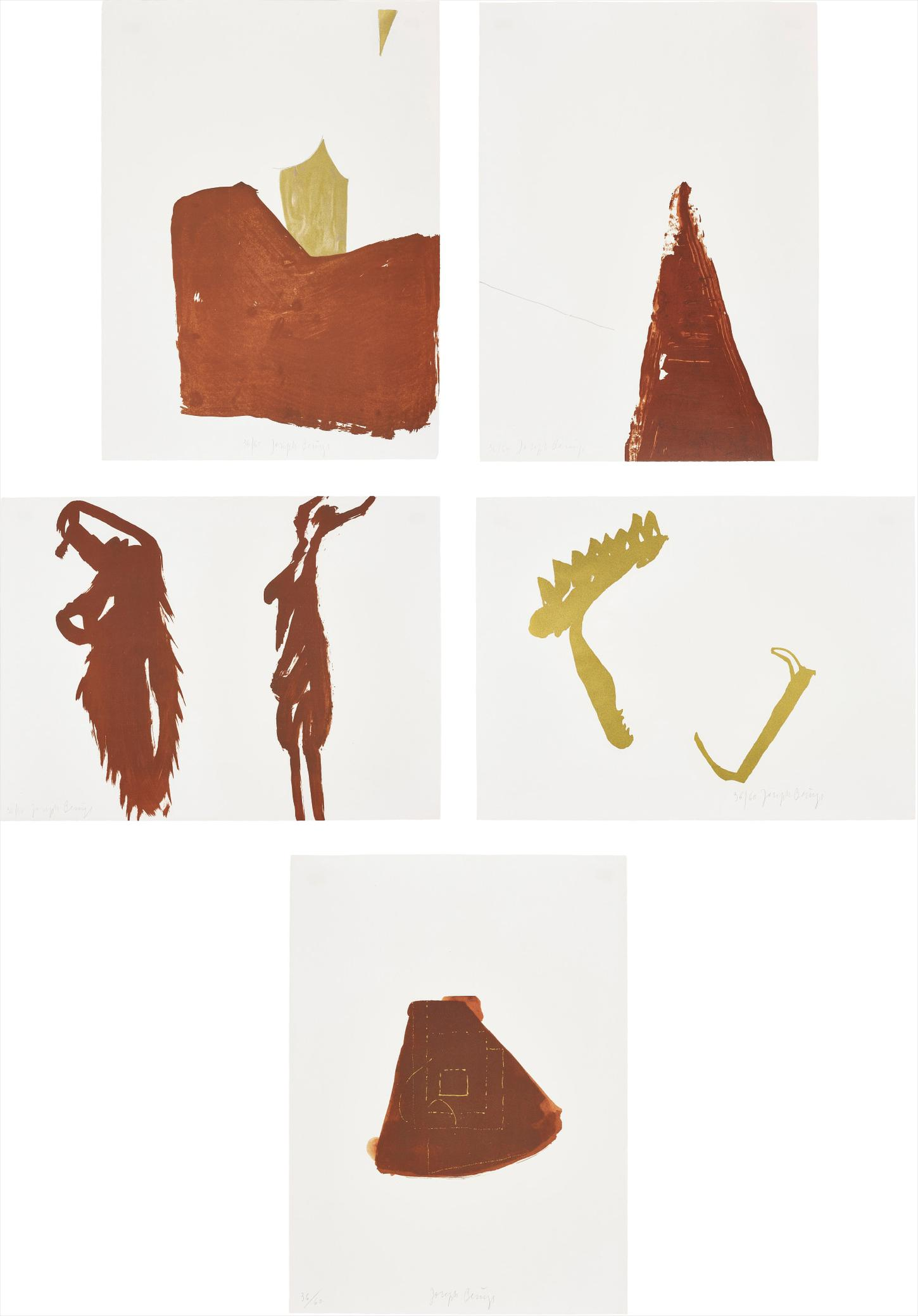 Joseph Beuys-Five Lithographs-1977