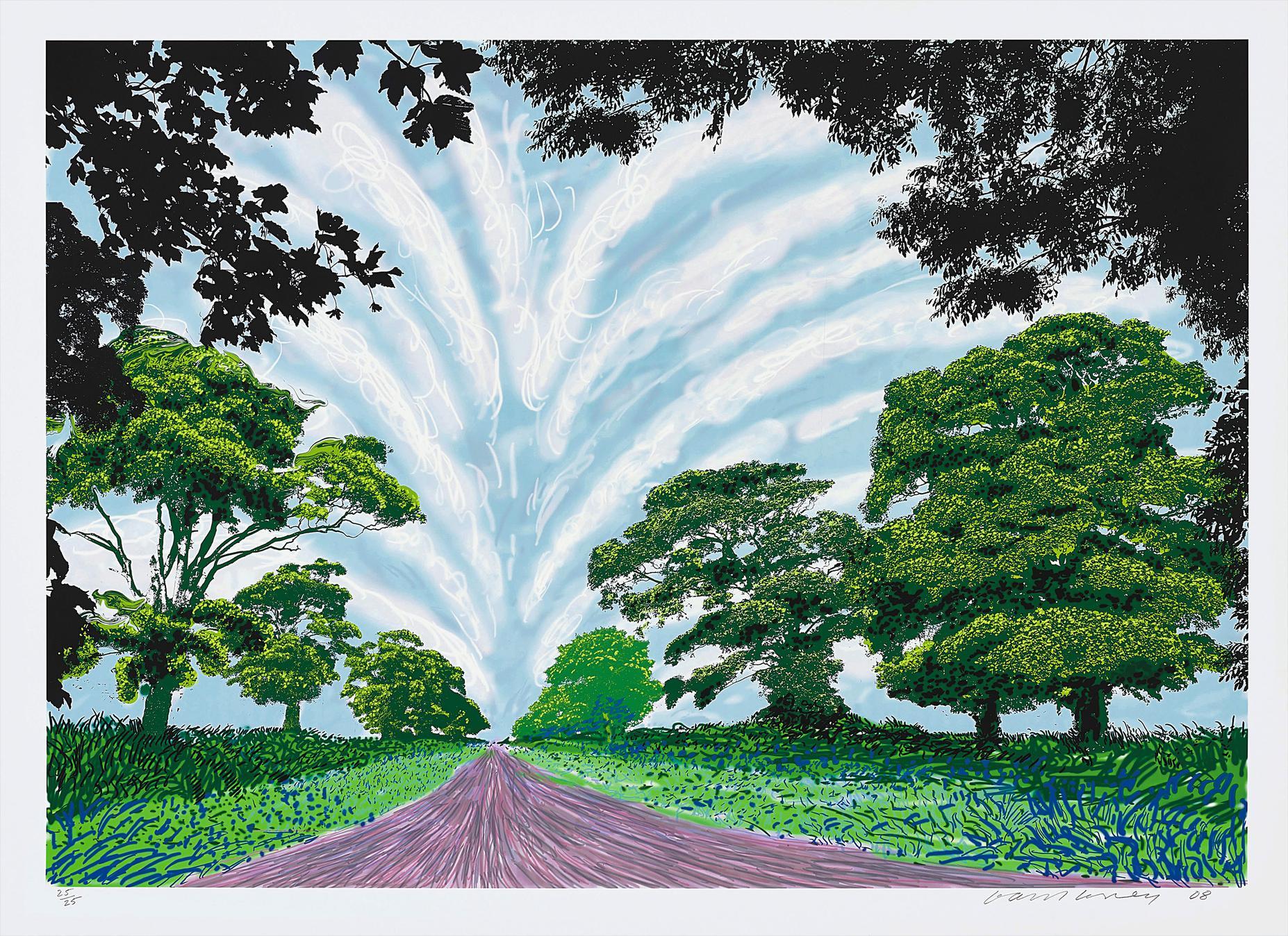 David Hockney-Summer Sky-2008