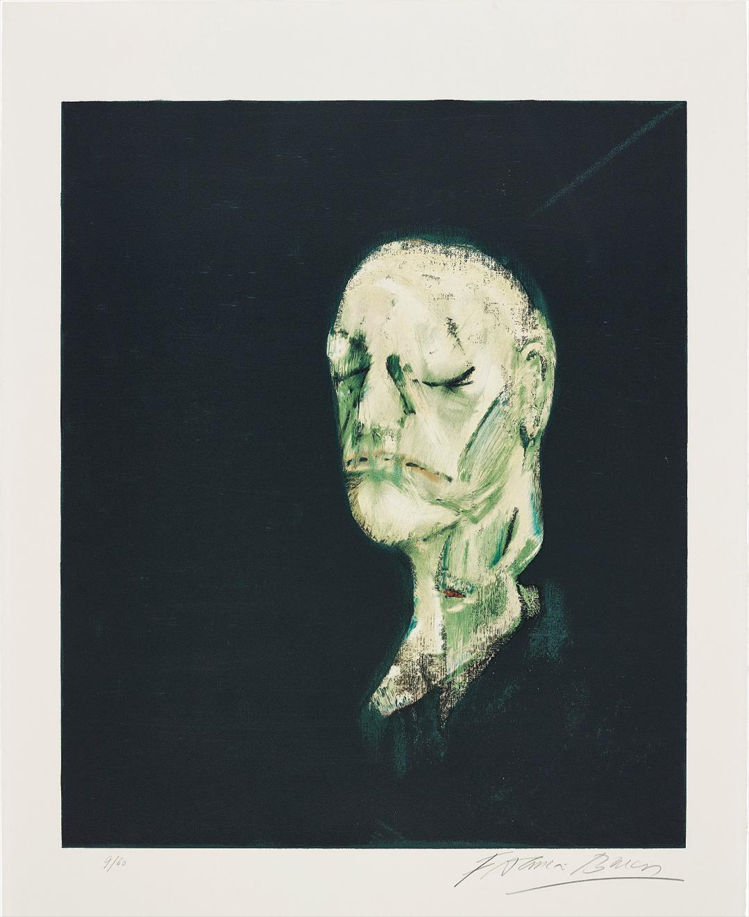 Francis Bacon-Masque Mortuaire De William Blake (After Study Of Portrait Based On The Life Mask Of William Blake, 1955)-1991