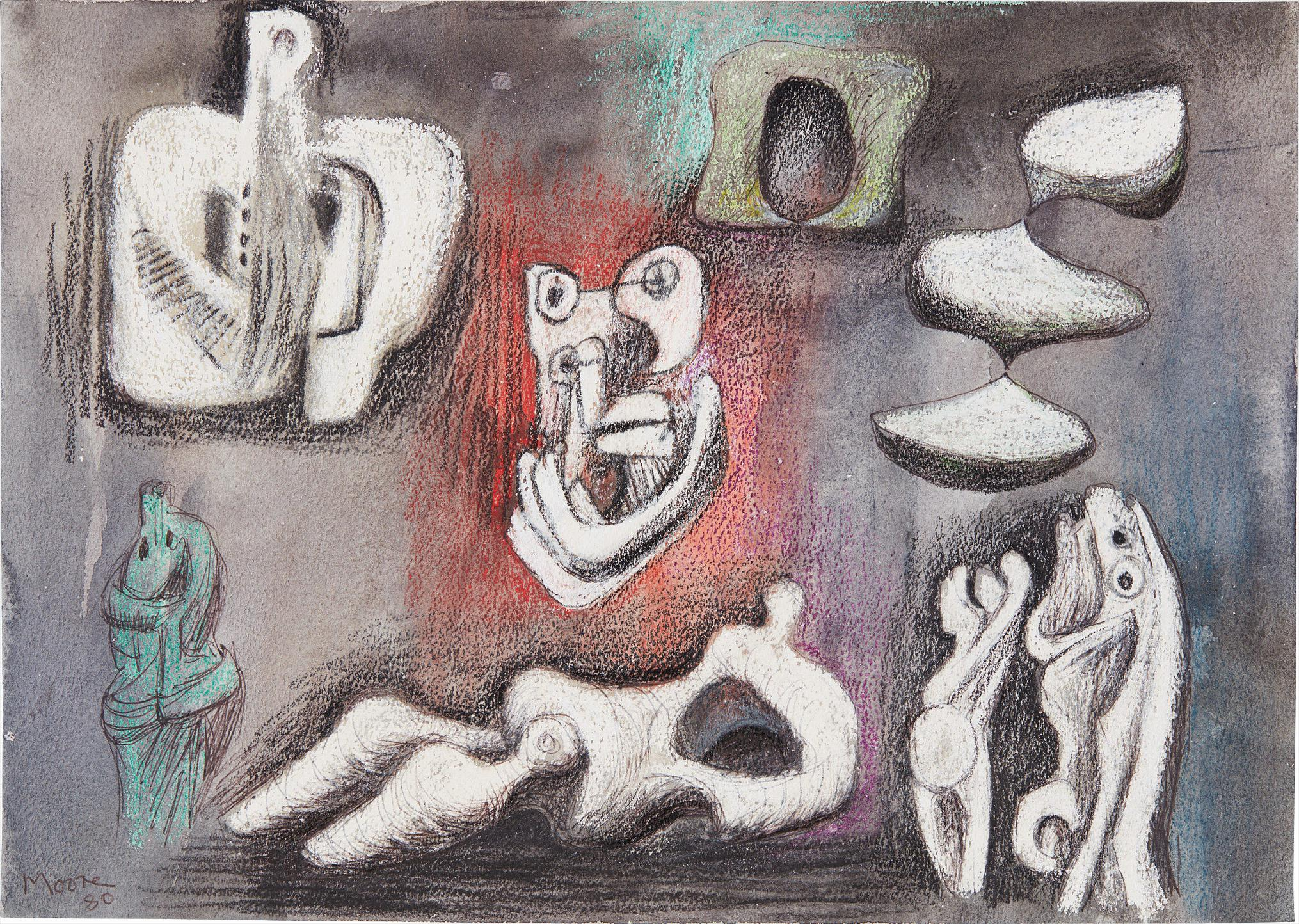 Henry Moore-Ideas For Sculpture-1980