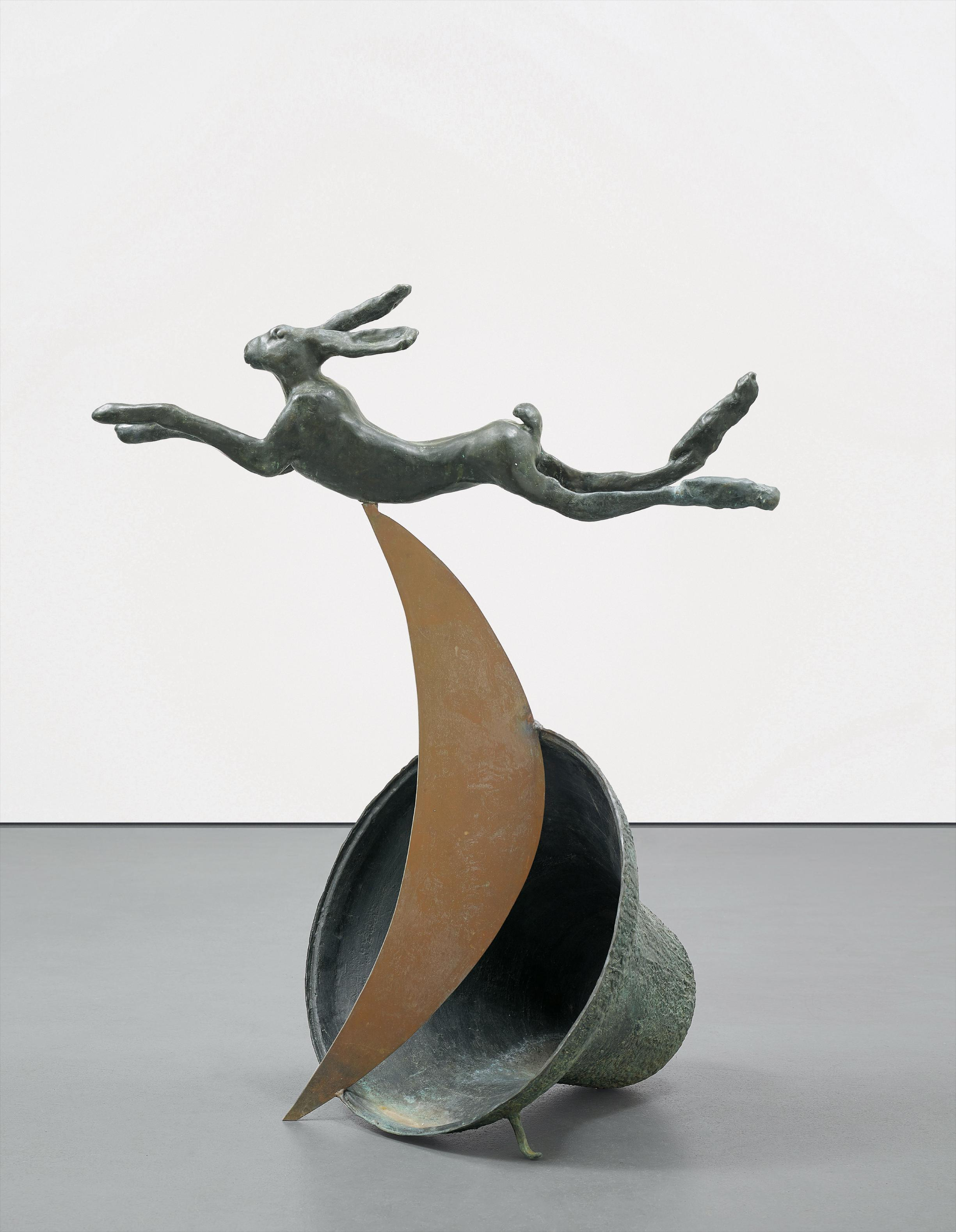 Barry Flanagan-Leaping Hare On Crescent And Bell-1983