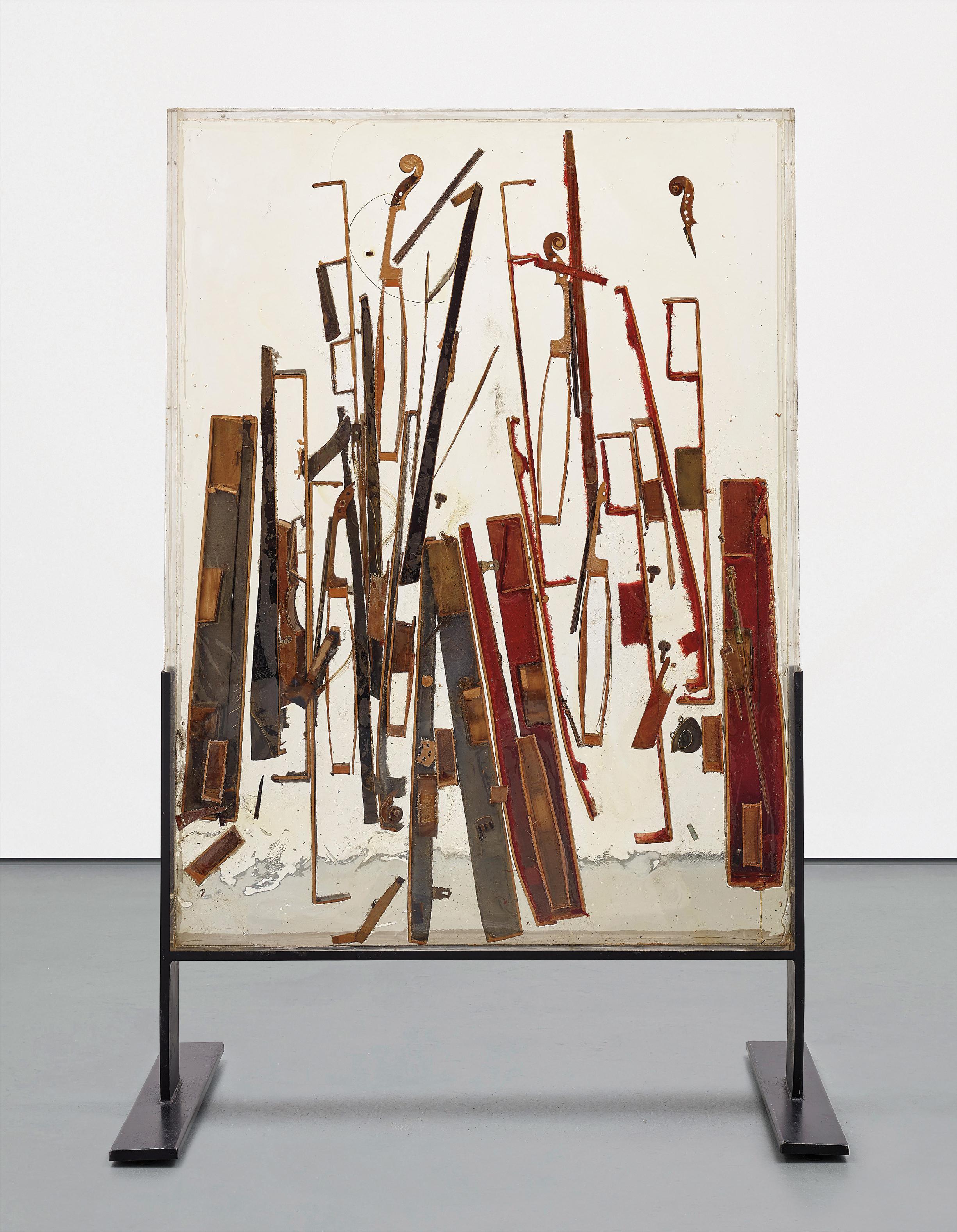 Arman-Untitled (Colere De Violons)-1970