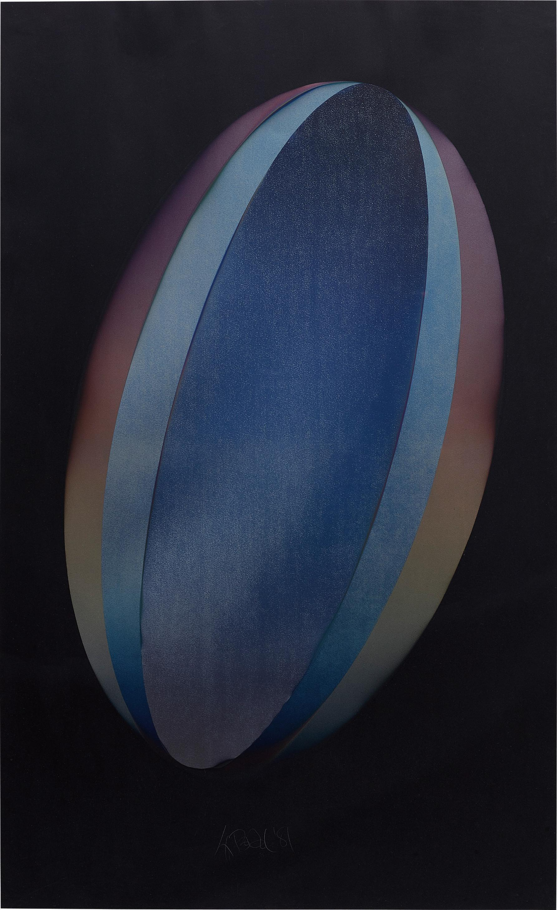 Larry Bell-Elbk 10 (Ellipse On Black 10)-1981