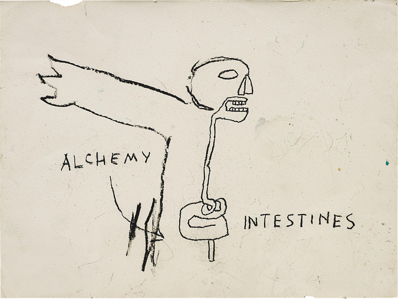 Jean-Michel Basquiat-Alchemy-1985