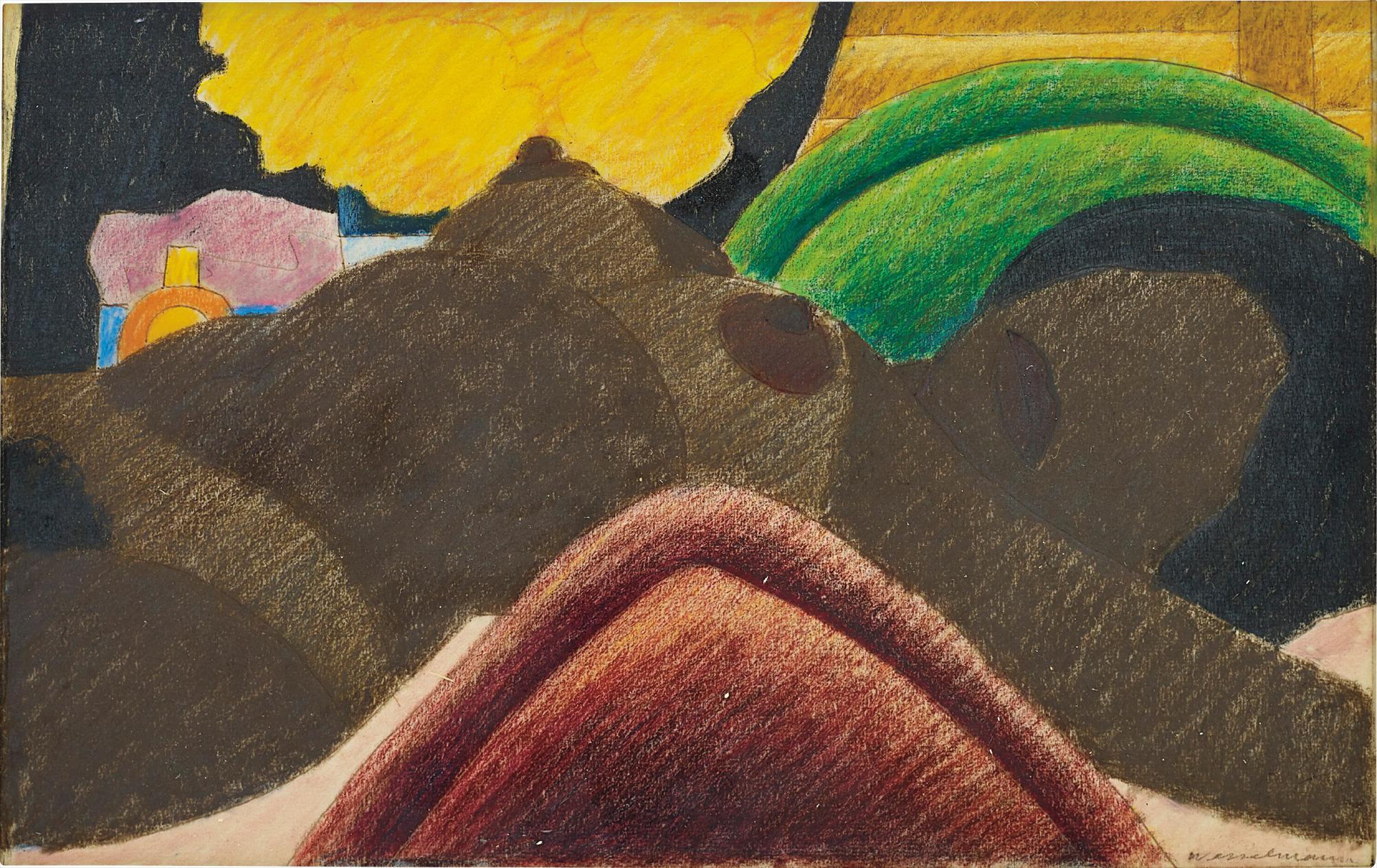 Tom Wesselmann-Sketch From Big Brown Nude-1975