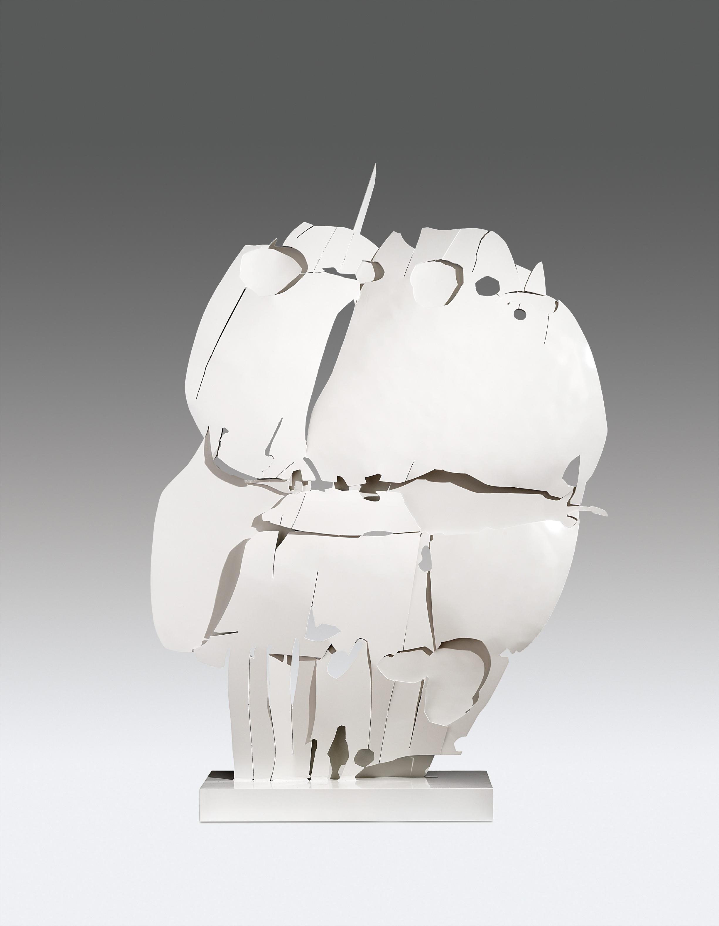 Pietro Consagra-Ferro Trasparente Bianco V-1966