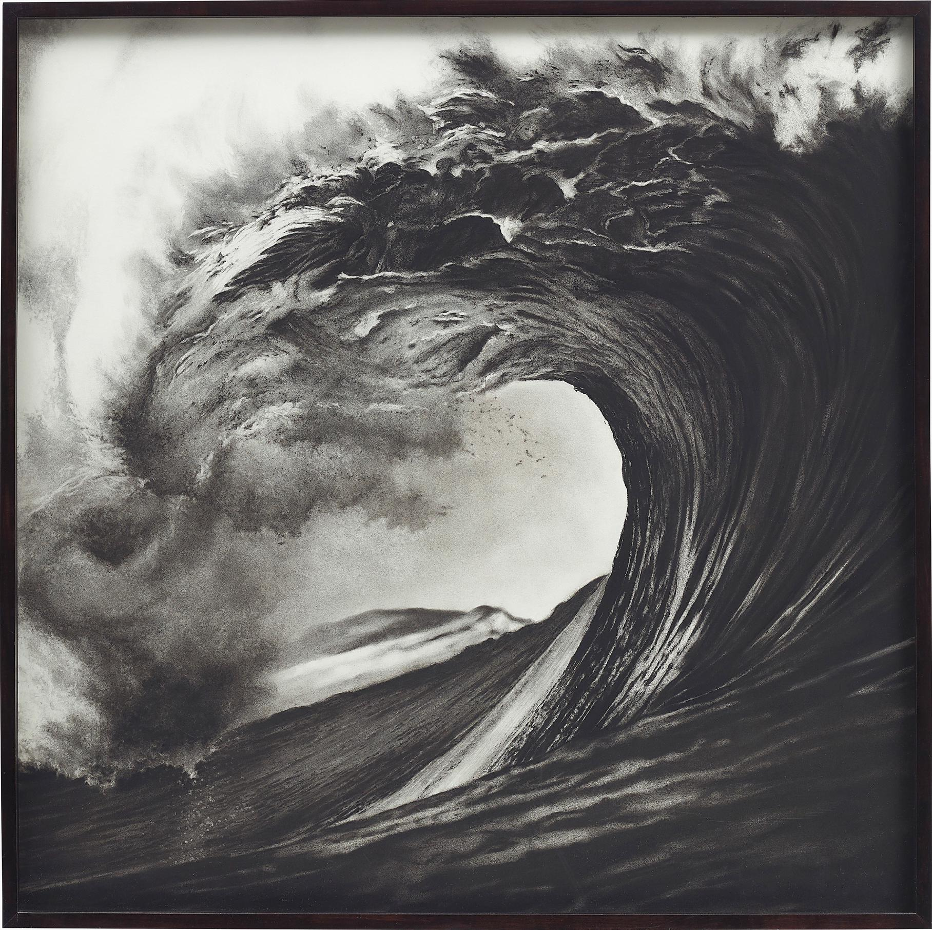Robert Longo-Untitled (Backdoor-Pipeline, Hawaii-Spring 99)-2000