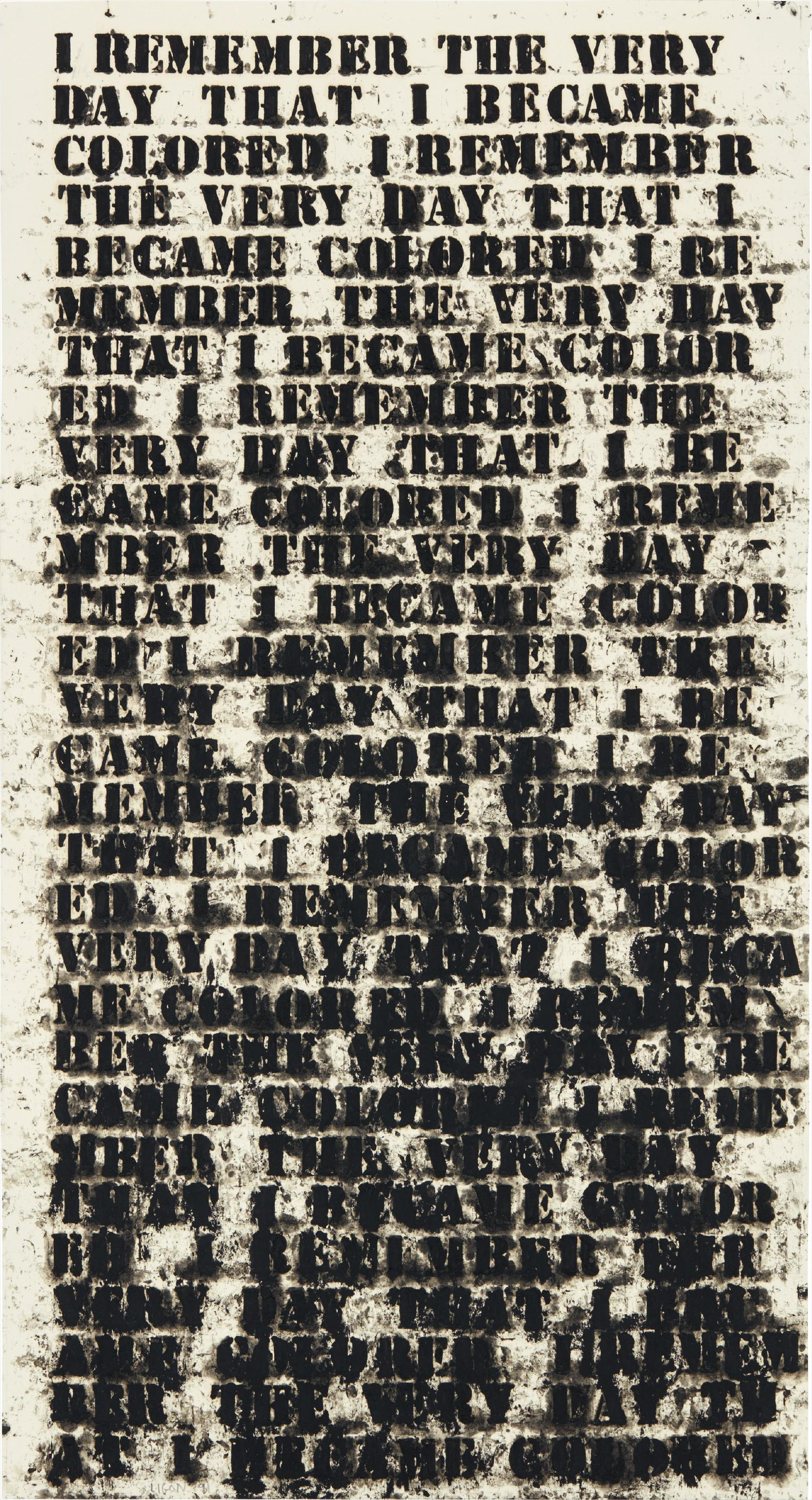 Glenn Ligon-Untitled (I Remember The Very Day)-1991