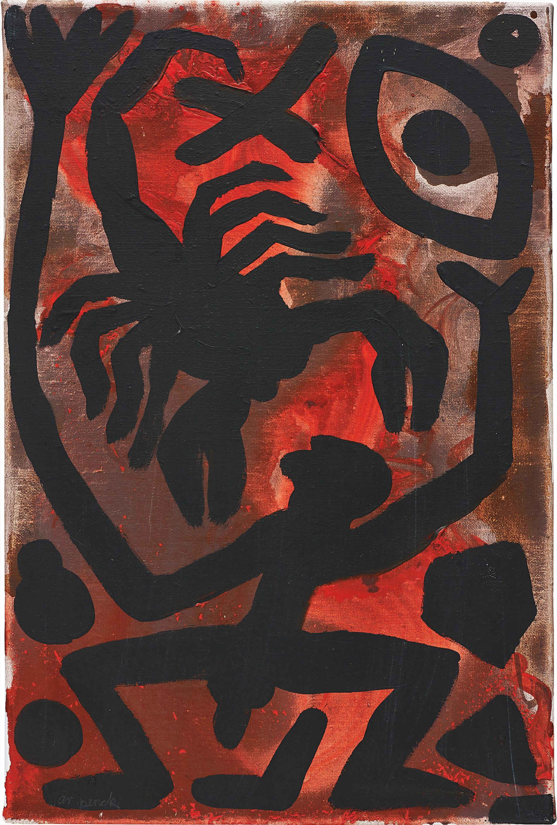 A.R. Penck-Lava Mann Skorpion Auge Pentagon-