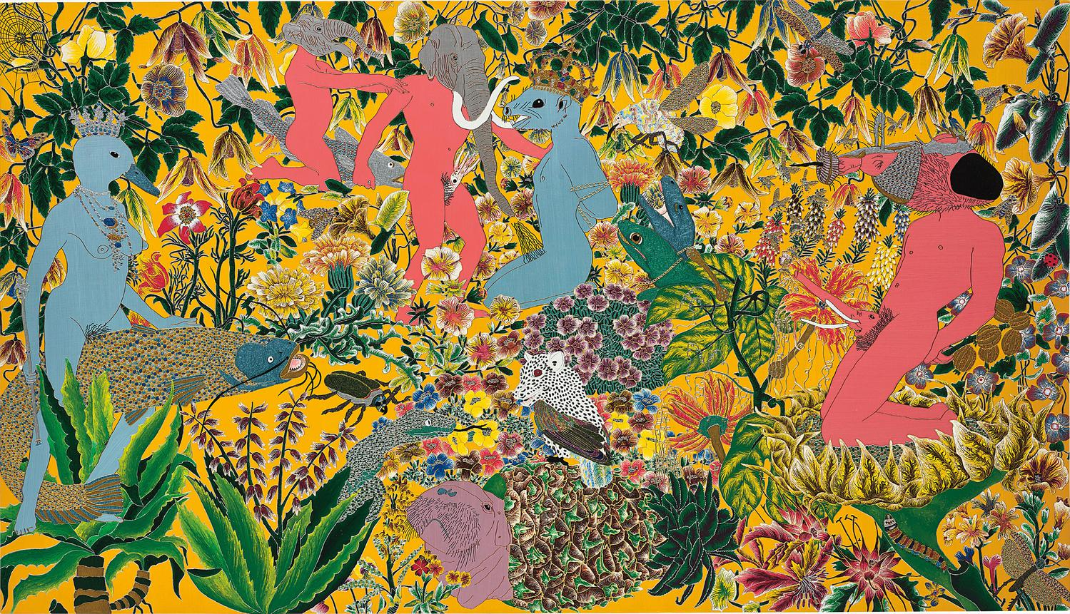 Raqib Shaw-After The Garden Of Earthly Delights - Hieronymus Bosch-2002