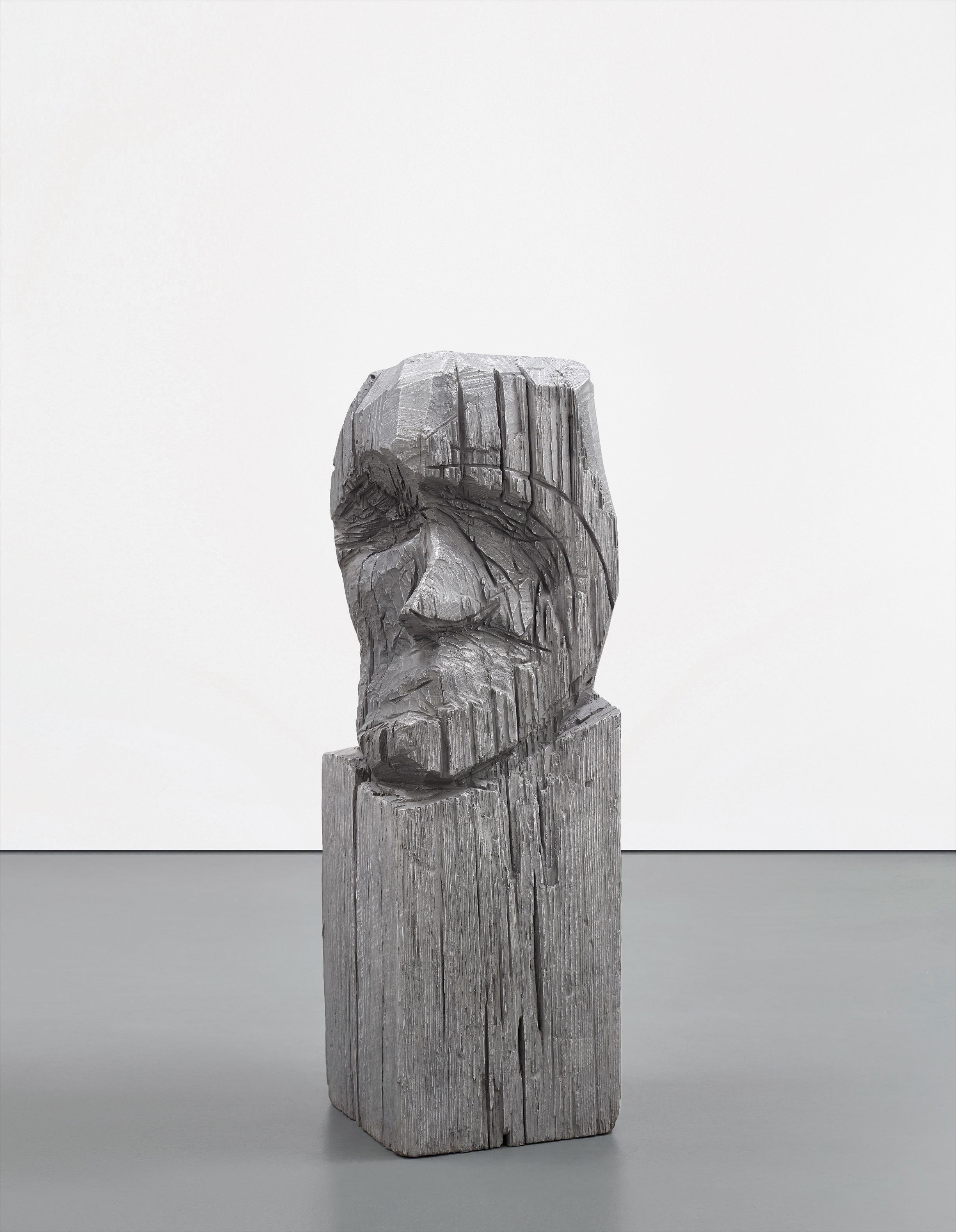 Thomas Houseago-Carved Head (Base)-2007