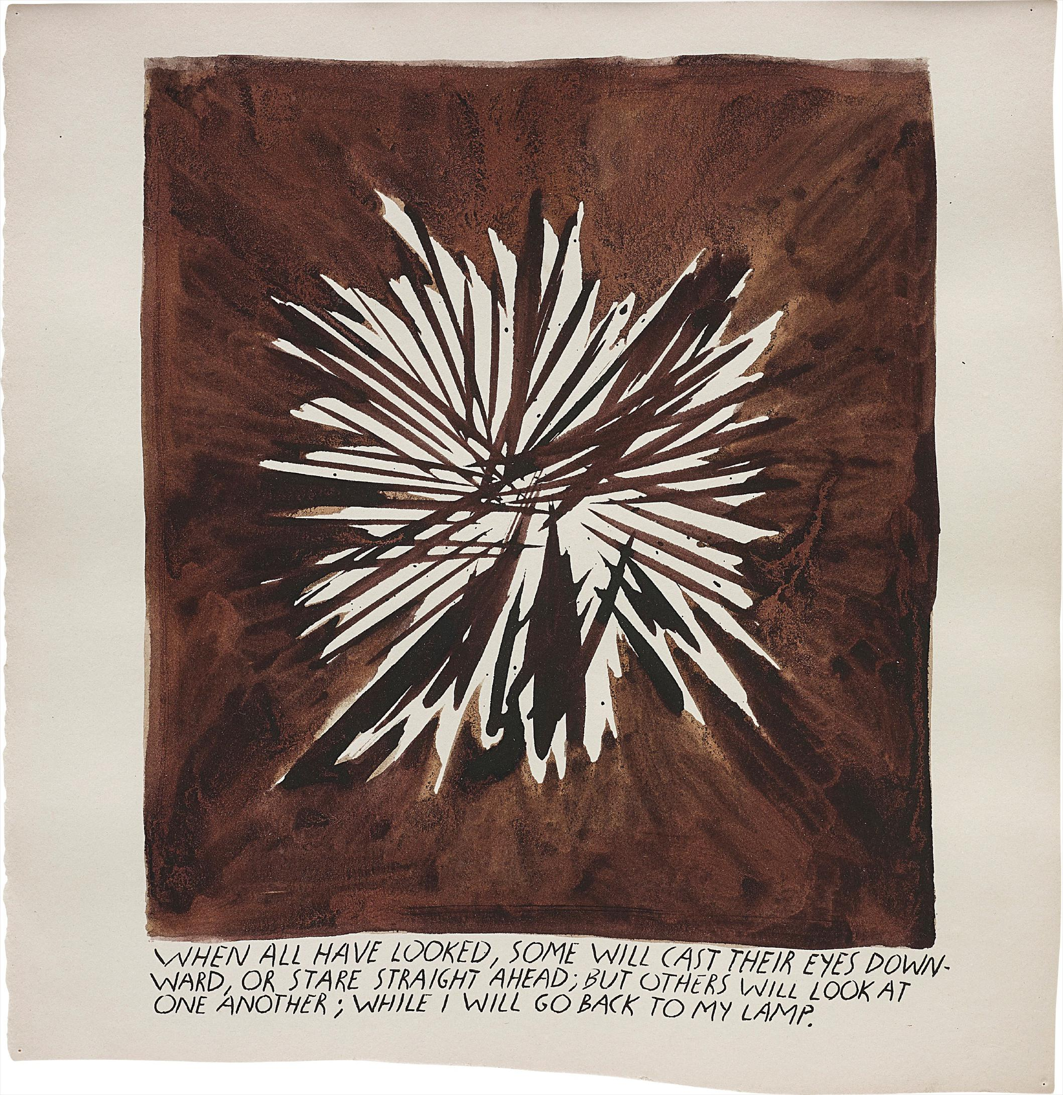 Raymond Pettibon-No Title (When All Have Looked, Some Will Cast Their Eyes Downward...)-1992