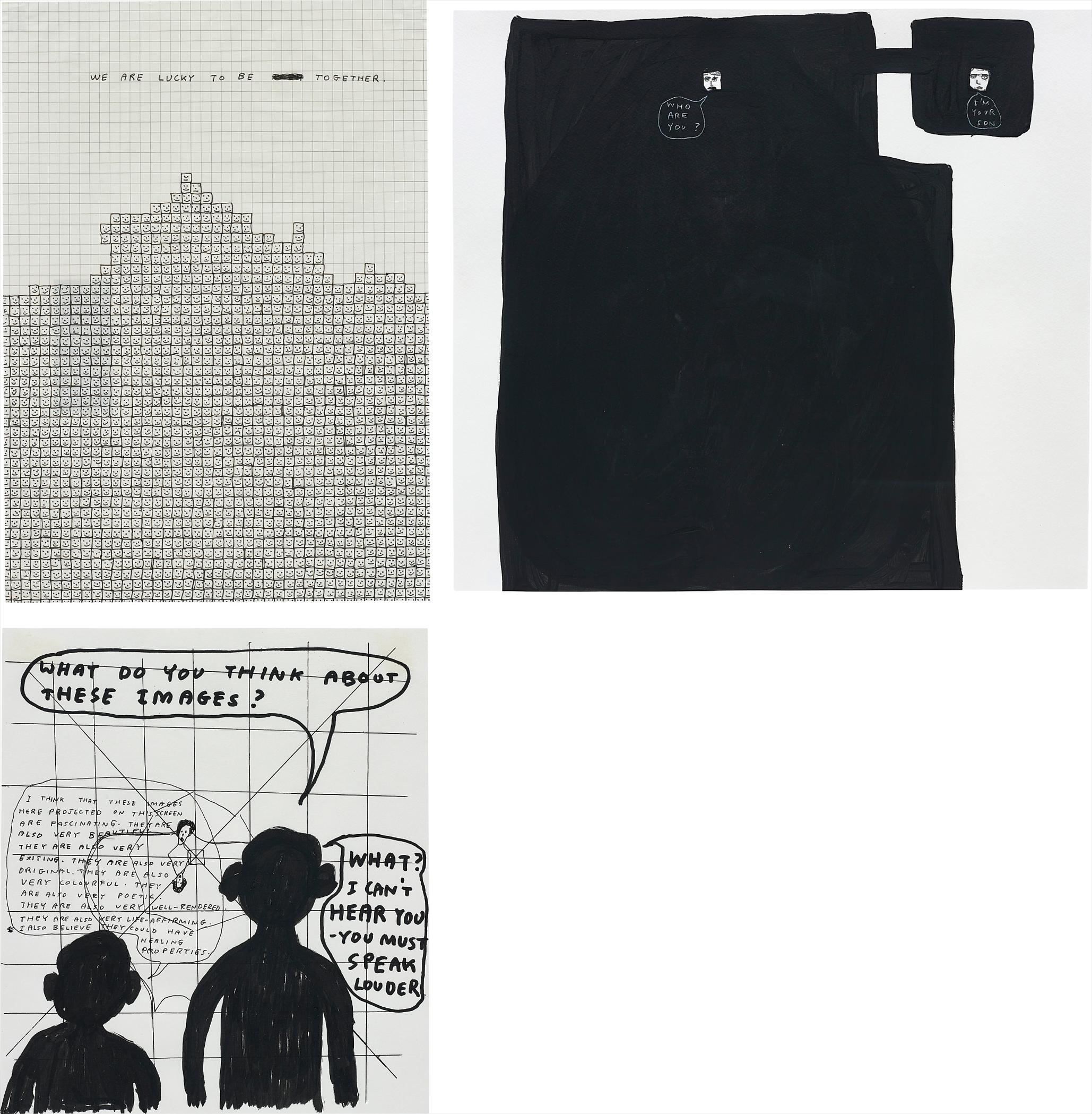 David Shrigley-Three Works: (i-iii) Untitled-2000