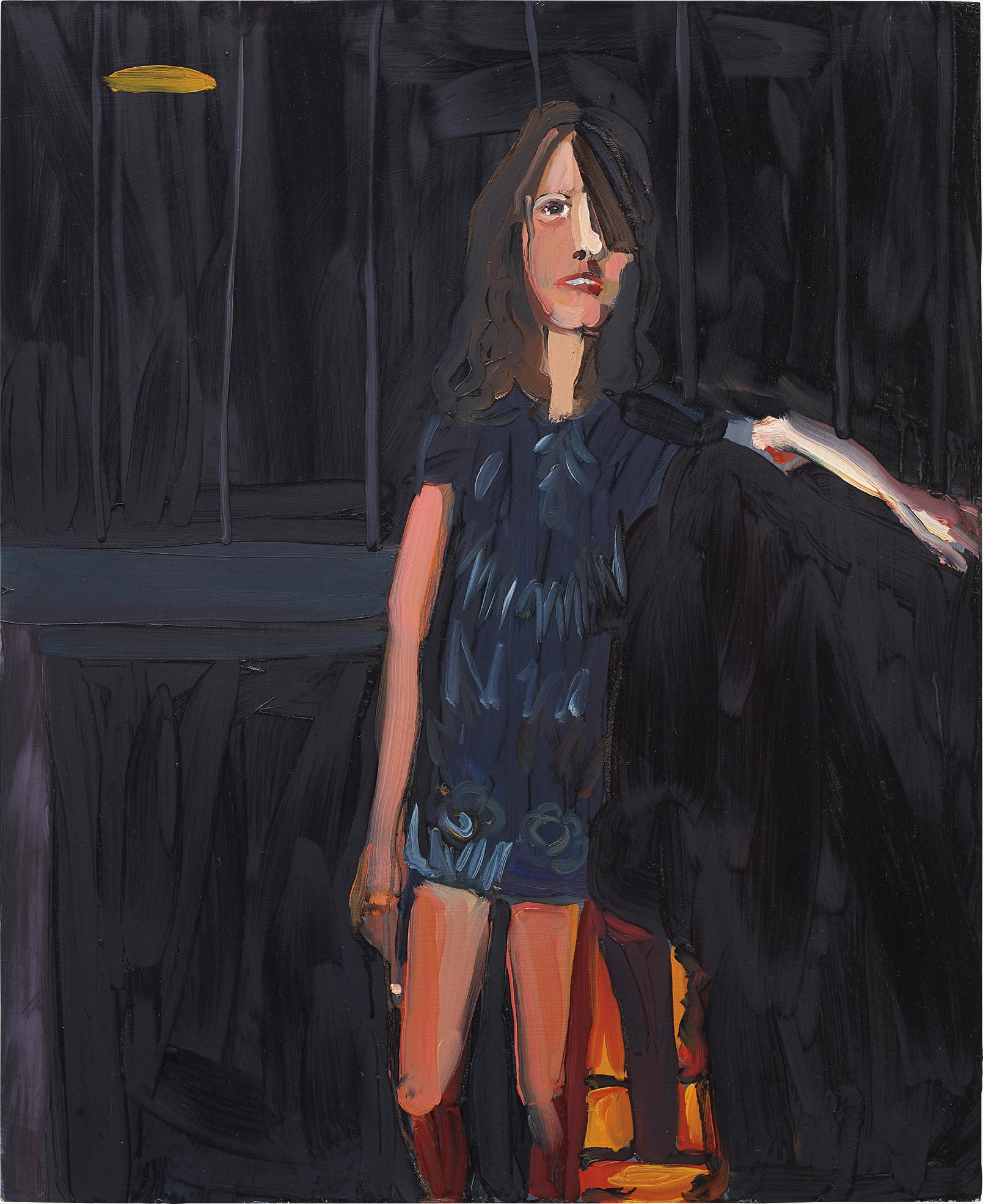 Chantal Joffe-Woman In Front Of A Fire-2003