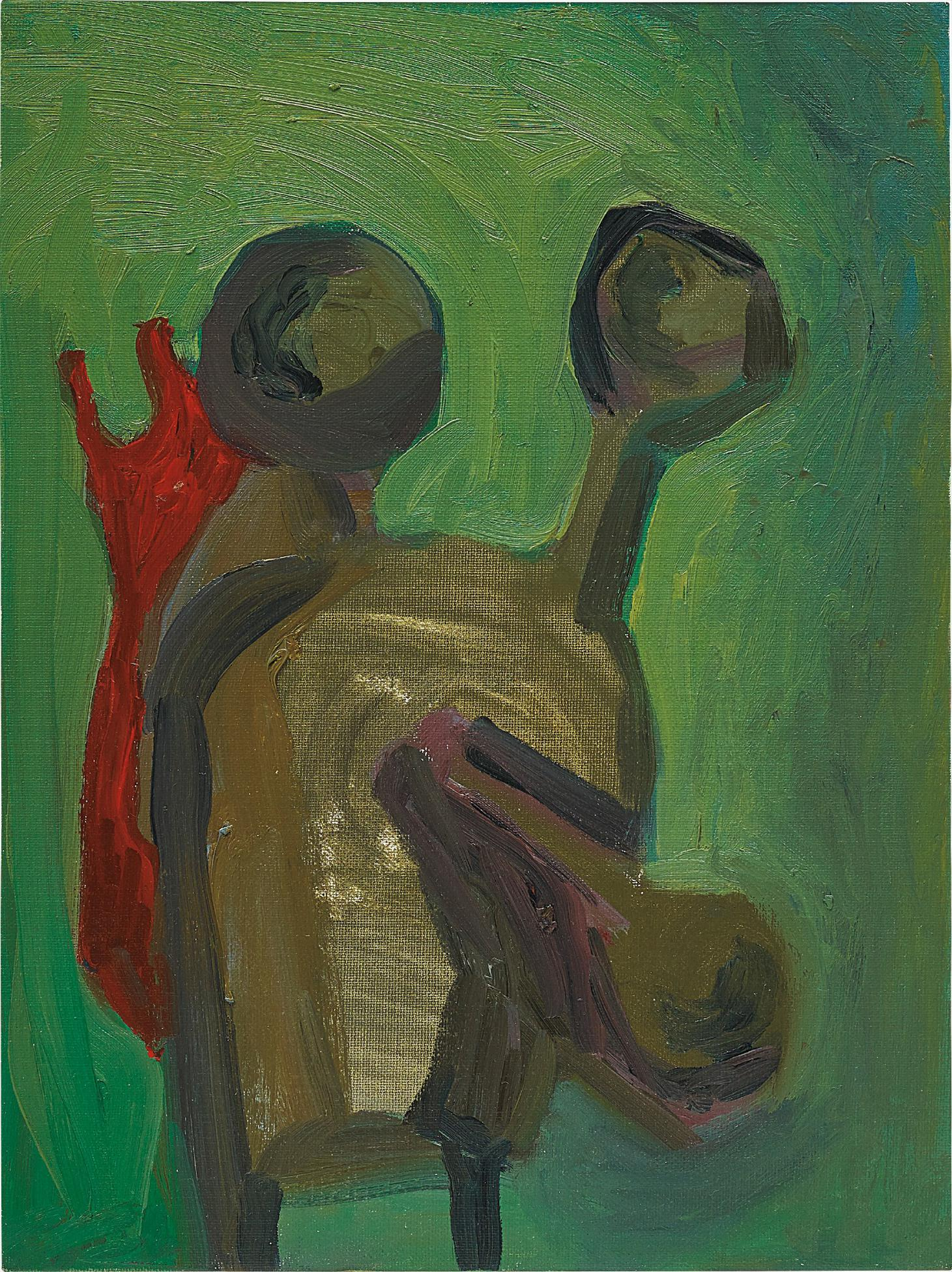 George Condo-Soft Green Abstraction-1983