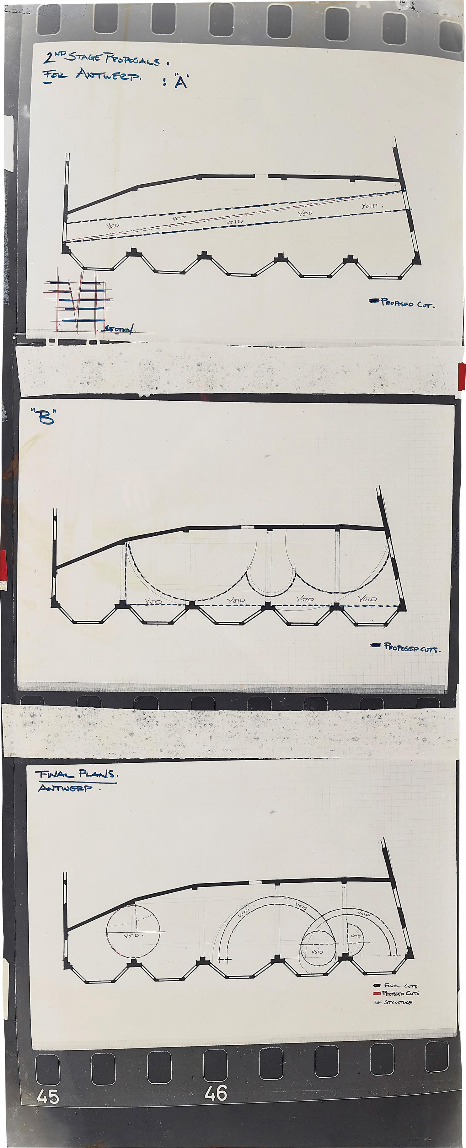 Gordon Matta-Clark-2Nd Stage Proposals For Antwerp (With Final Plans)-1977