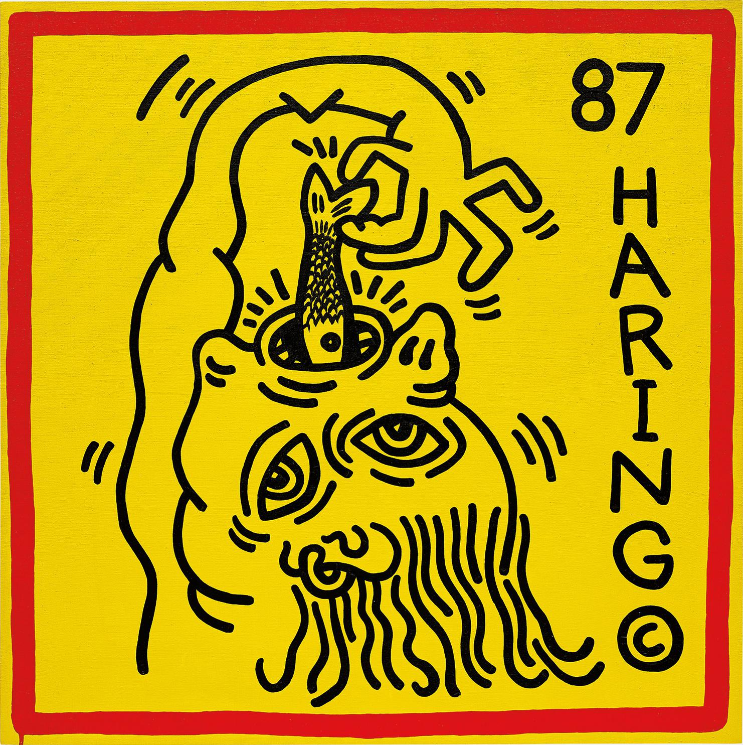 Keith Haring-Untitled (Knokke #3)-1987