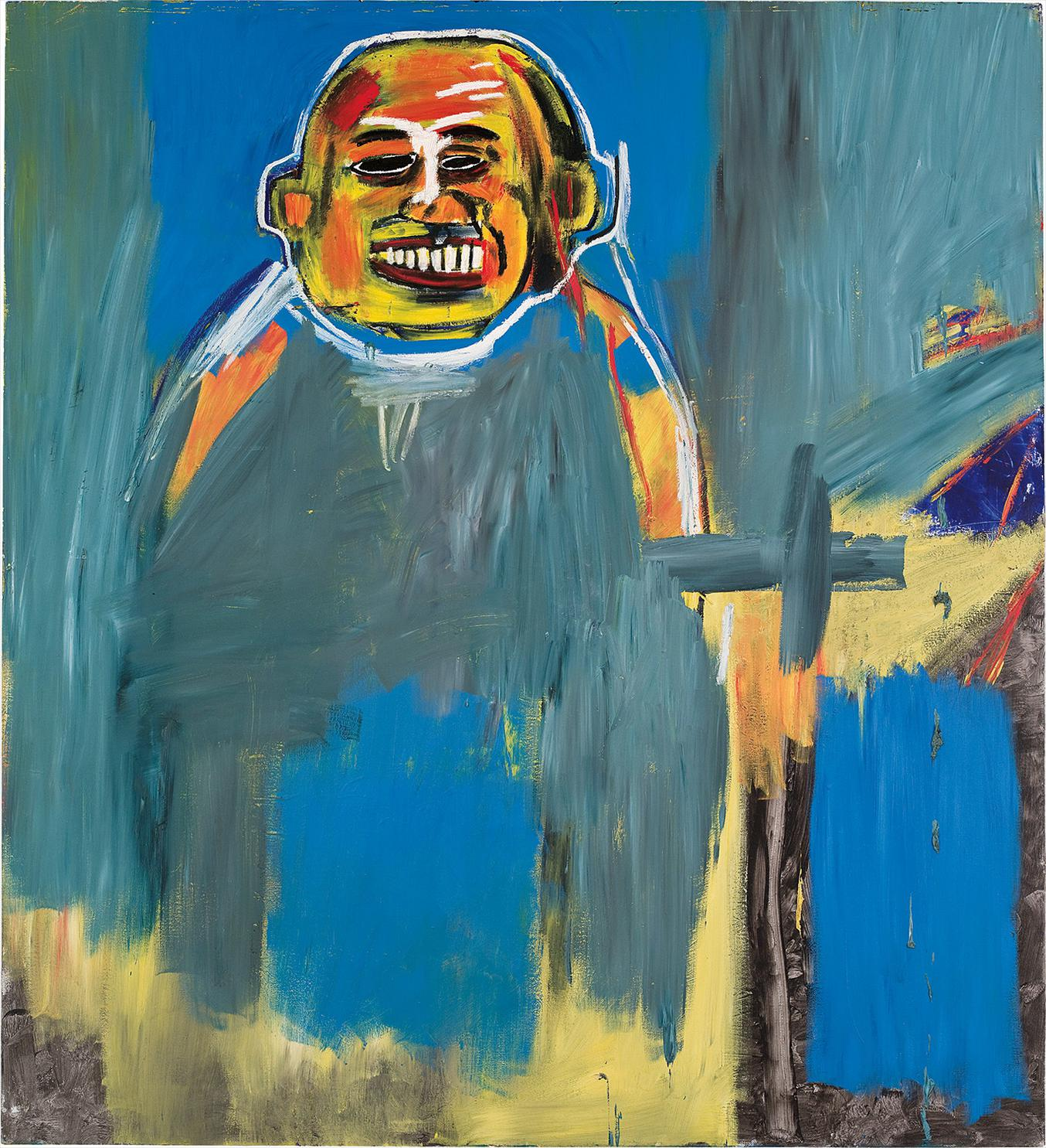 Jean-Michel Basquiat-Bird As Buddha-1984