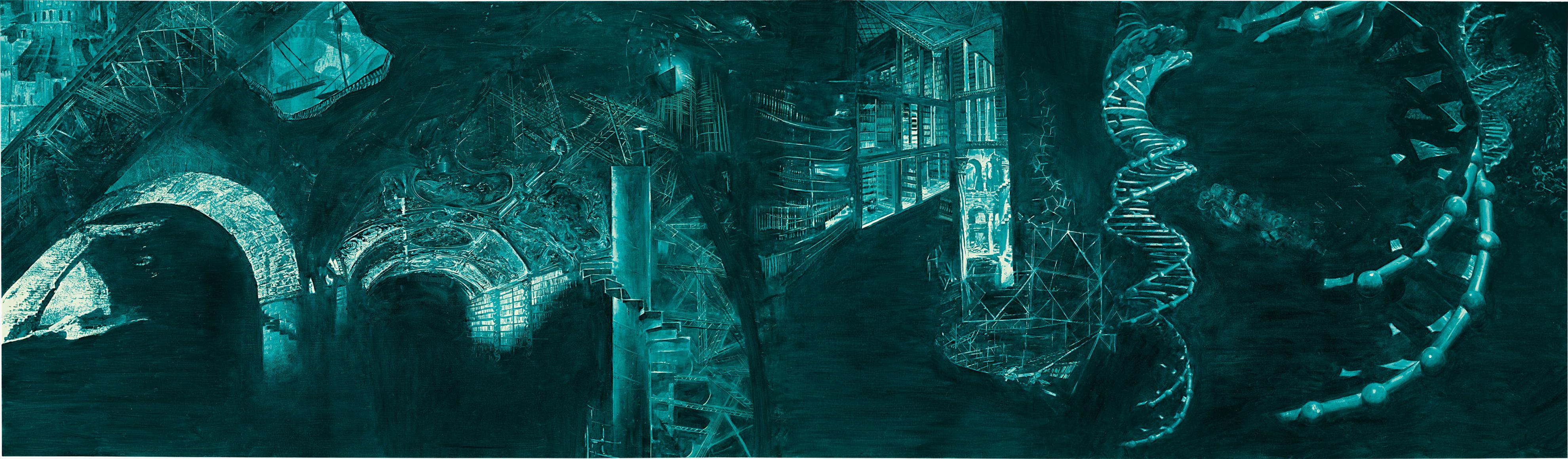 Mark Tansey-Library (Of Babylon)-1994