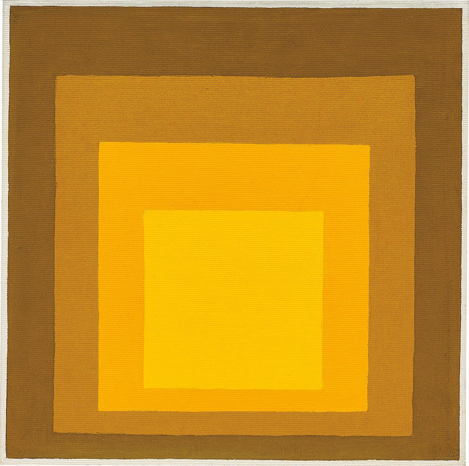 Josef Albers-Study For Homage To The Square: Late September-1961