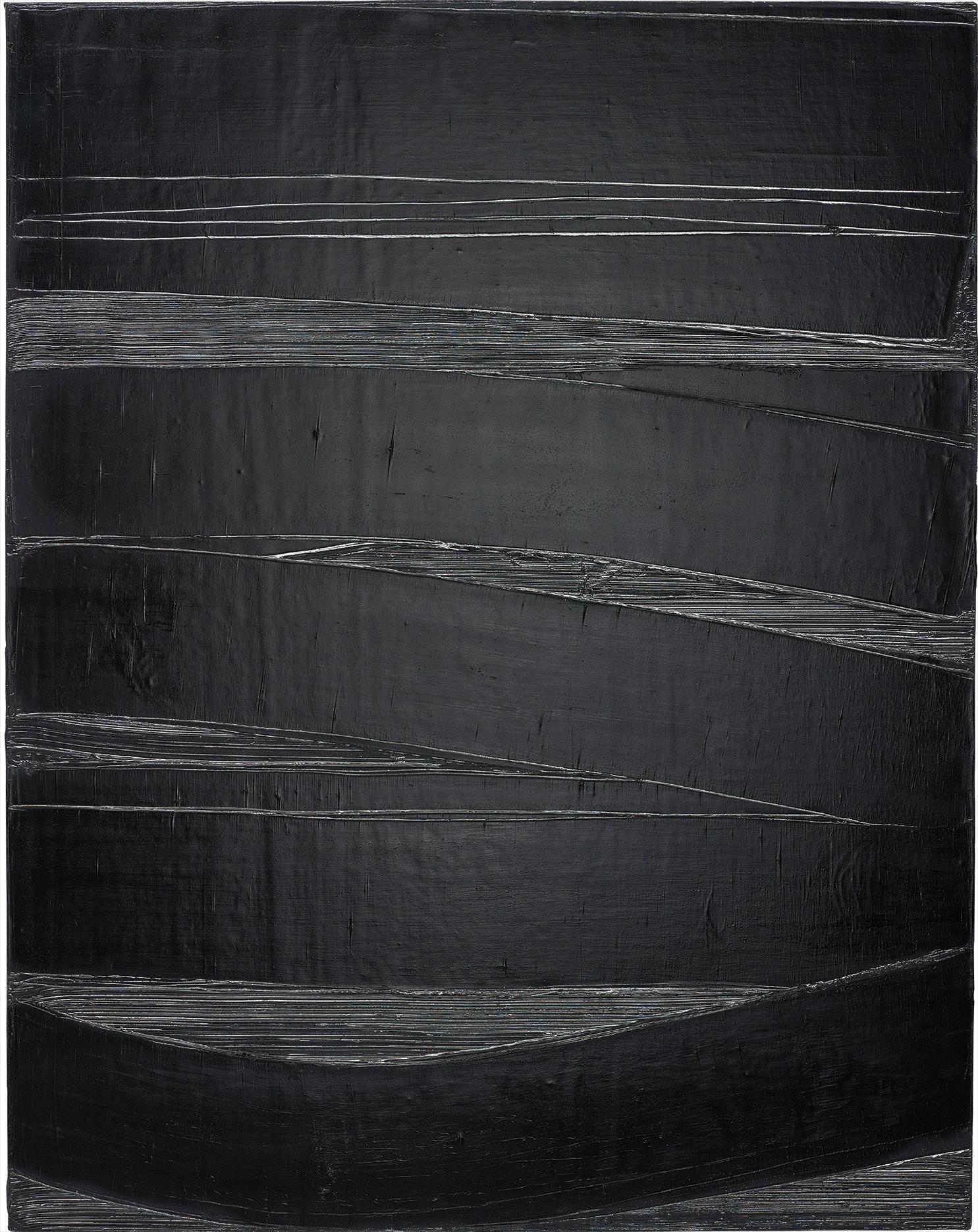 Pierre Soulages-Peinture 130 X 102 Cm, 14 Octobre 1980-1980
