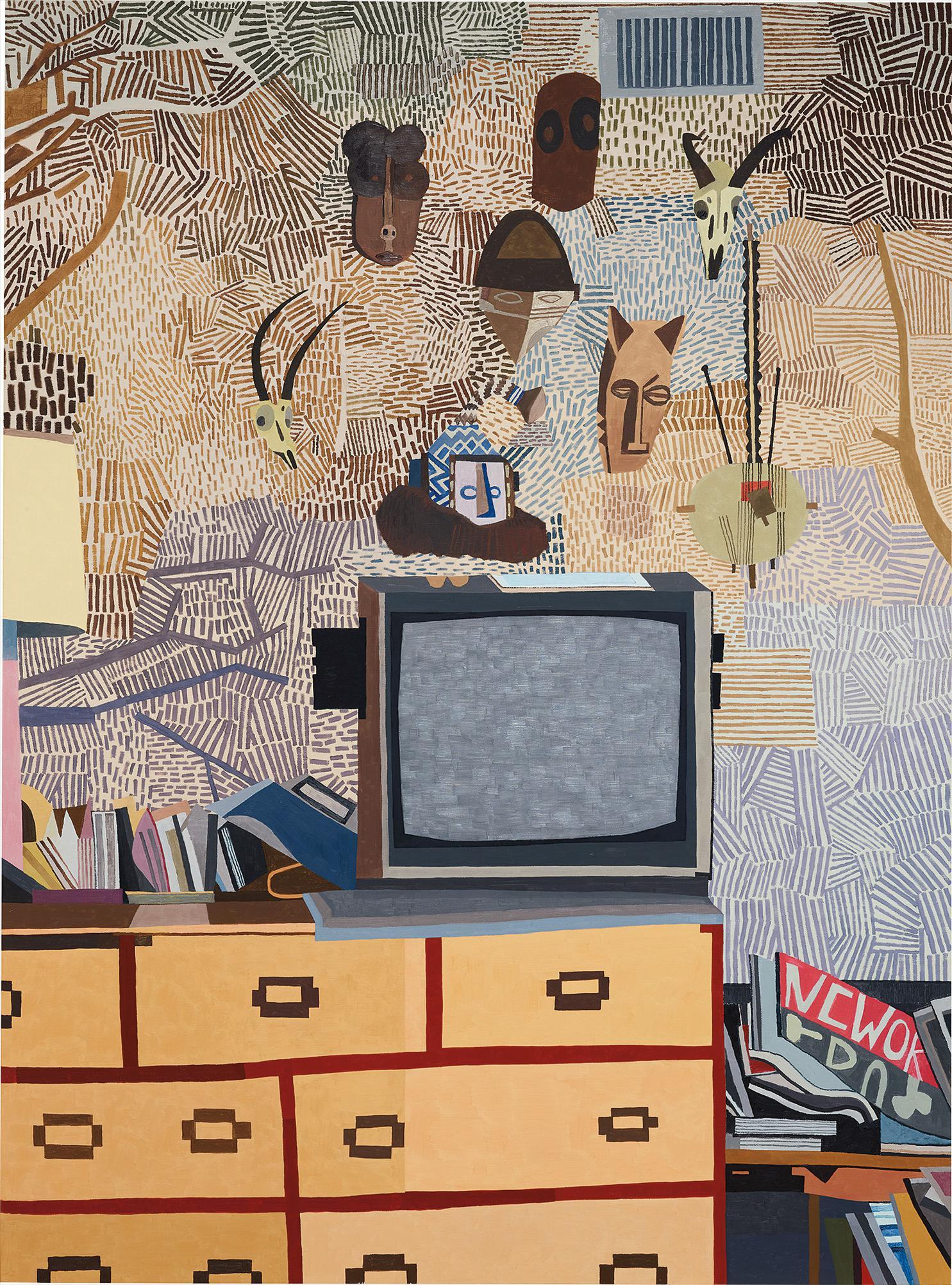 Jonas Wood-Rosys Masks-2008