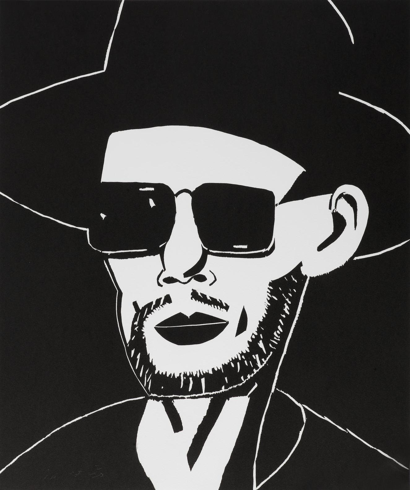 Alex Katz-Black Hat (Tim)-2010