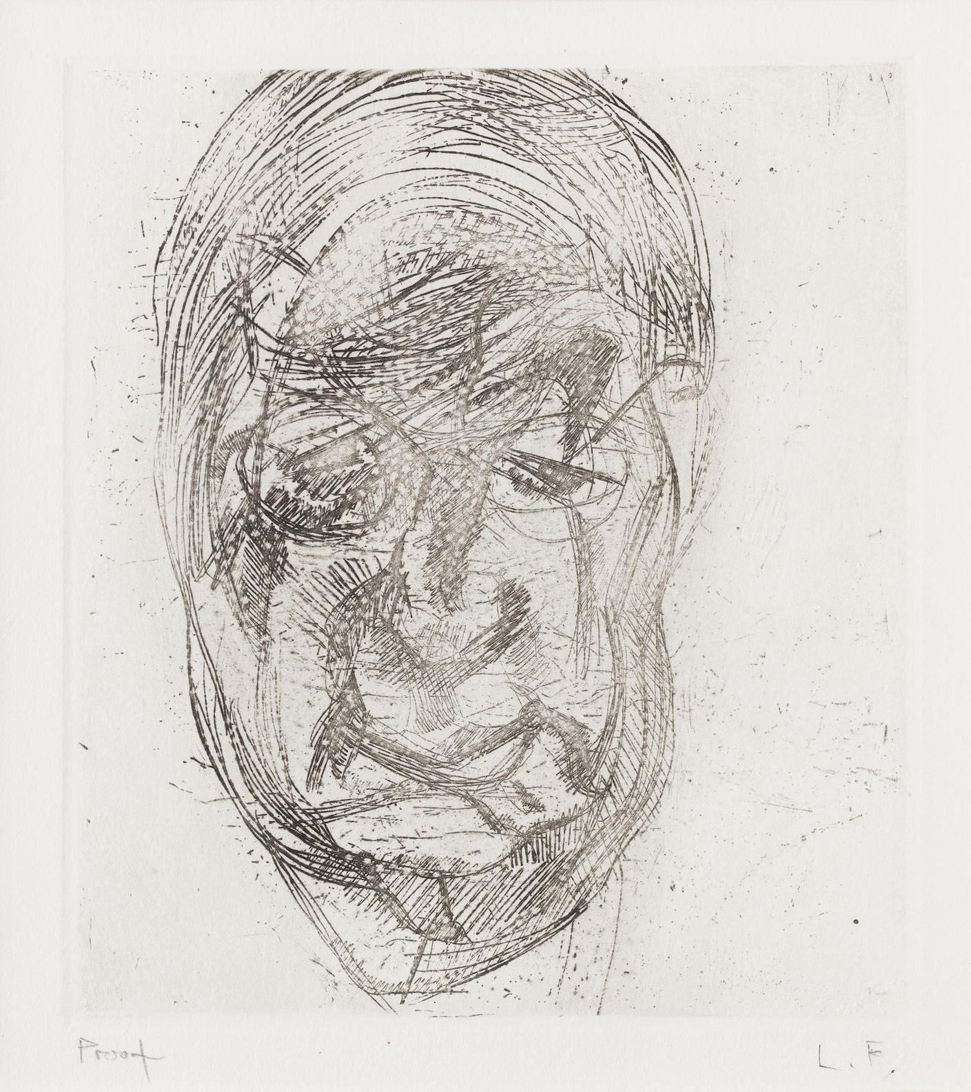 Lucian Freud-Lawrence Gowing (Second Version) (Hartley 9)-1982