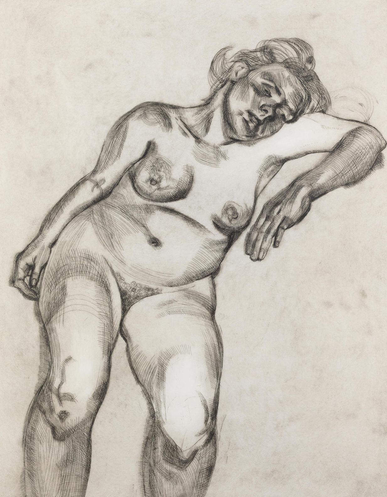 Lucian Freud-Blond Girl (Hartley 24; Figura 33)-1985